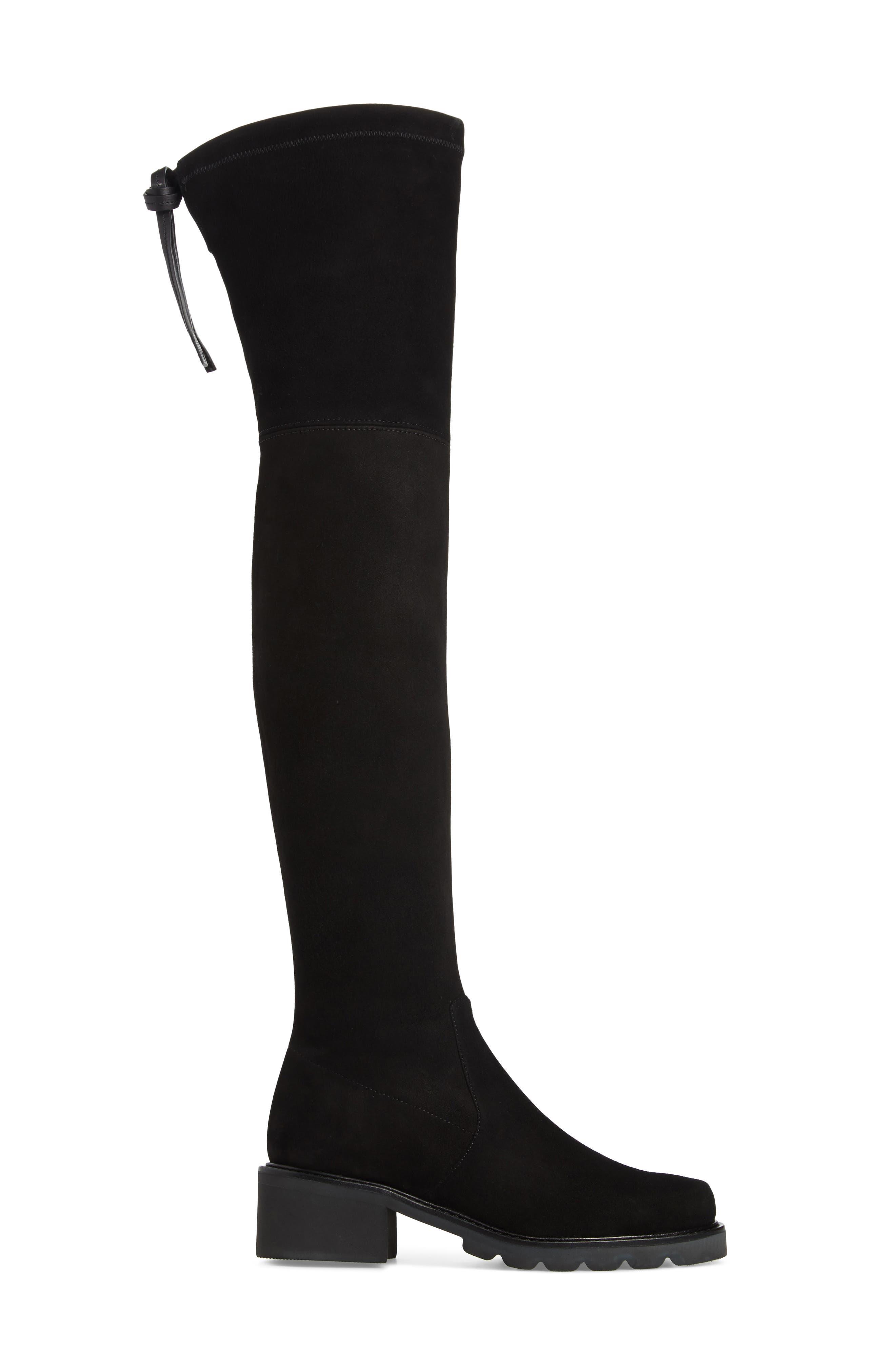 Eldridge Over the Knee Boot,                             Alternate thumbnail 3, color,                             BLACK SUEDE