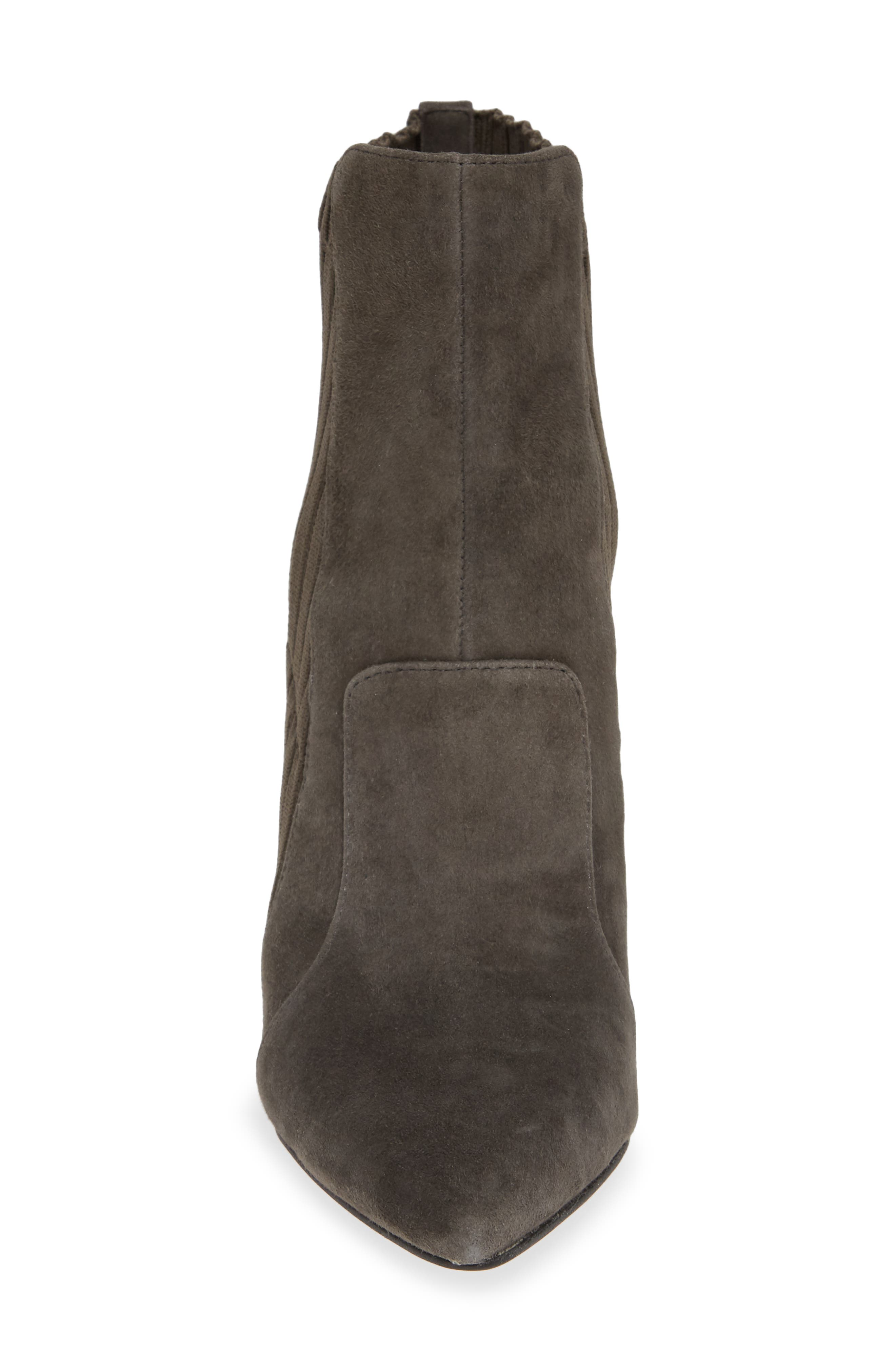 Salmay Sock Bootie,                             Alternate thumbnail 4, color,                             IRON SUEDE