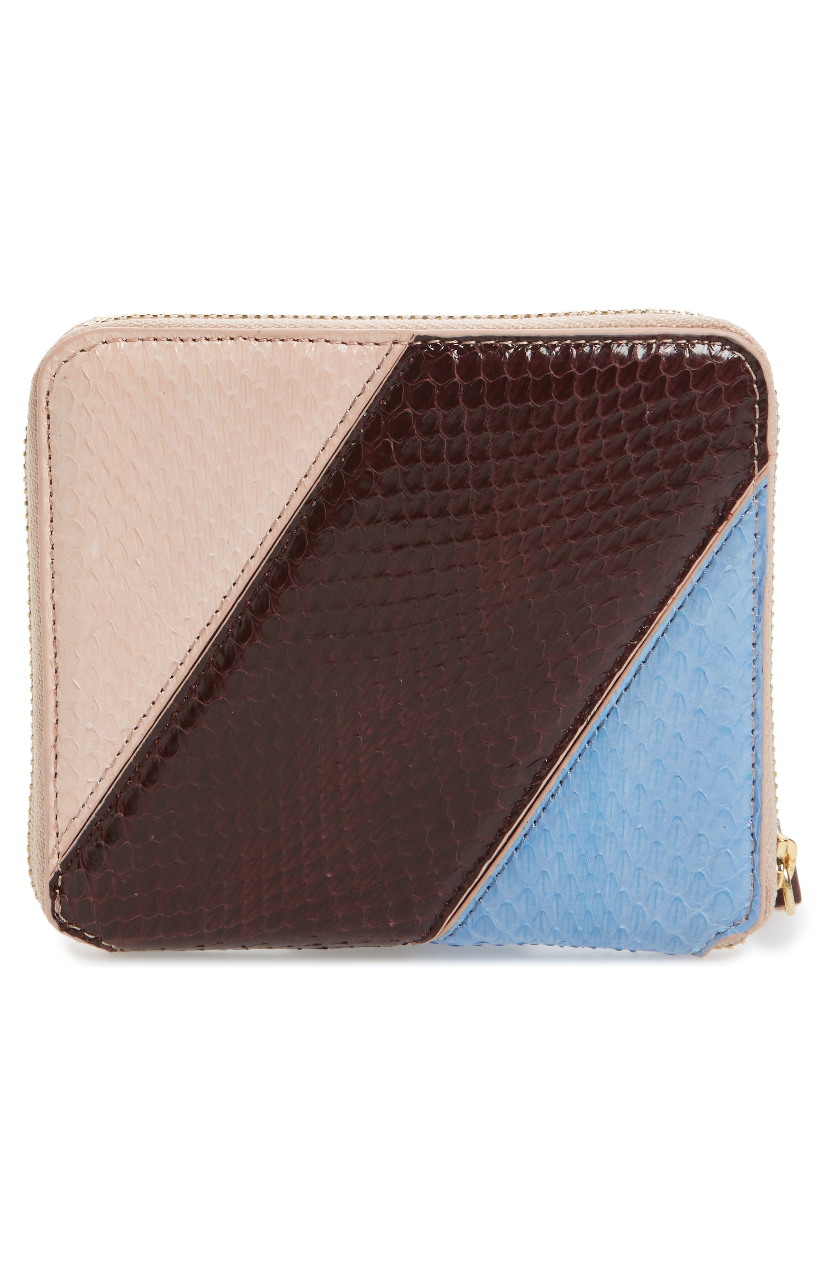 Small Za Genuine Snakeskin Wallet,                             Alternate thumbnail 4, color,                             400