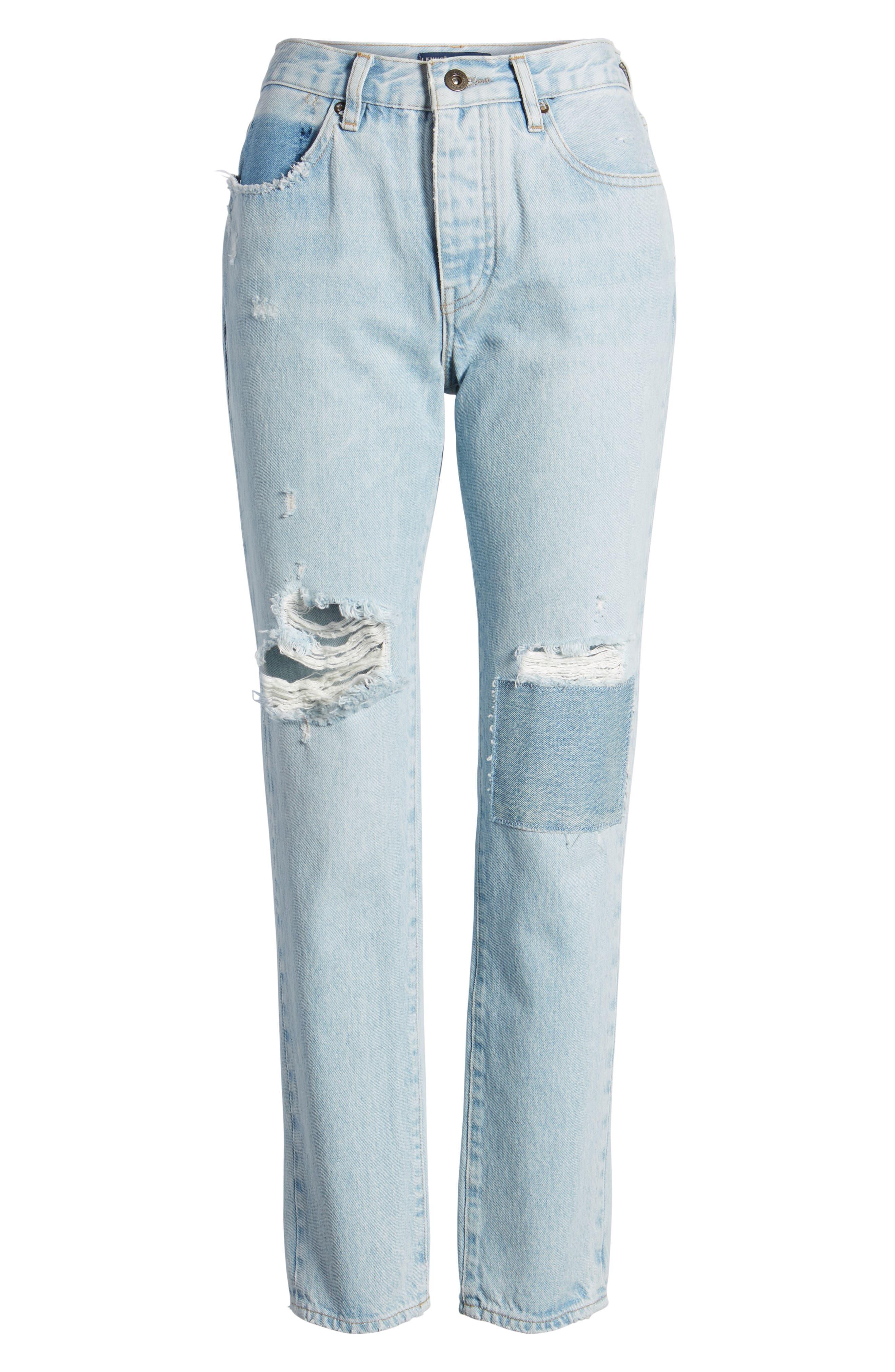 Twig II High Waist Ankle Slim Jeans,                             Alternate thumbnail 7, color,