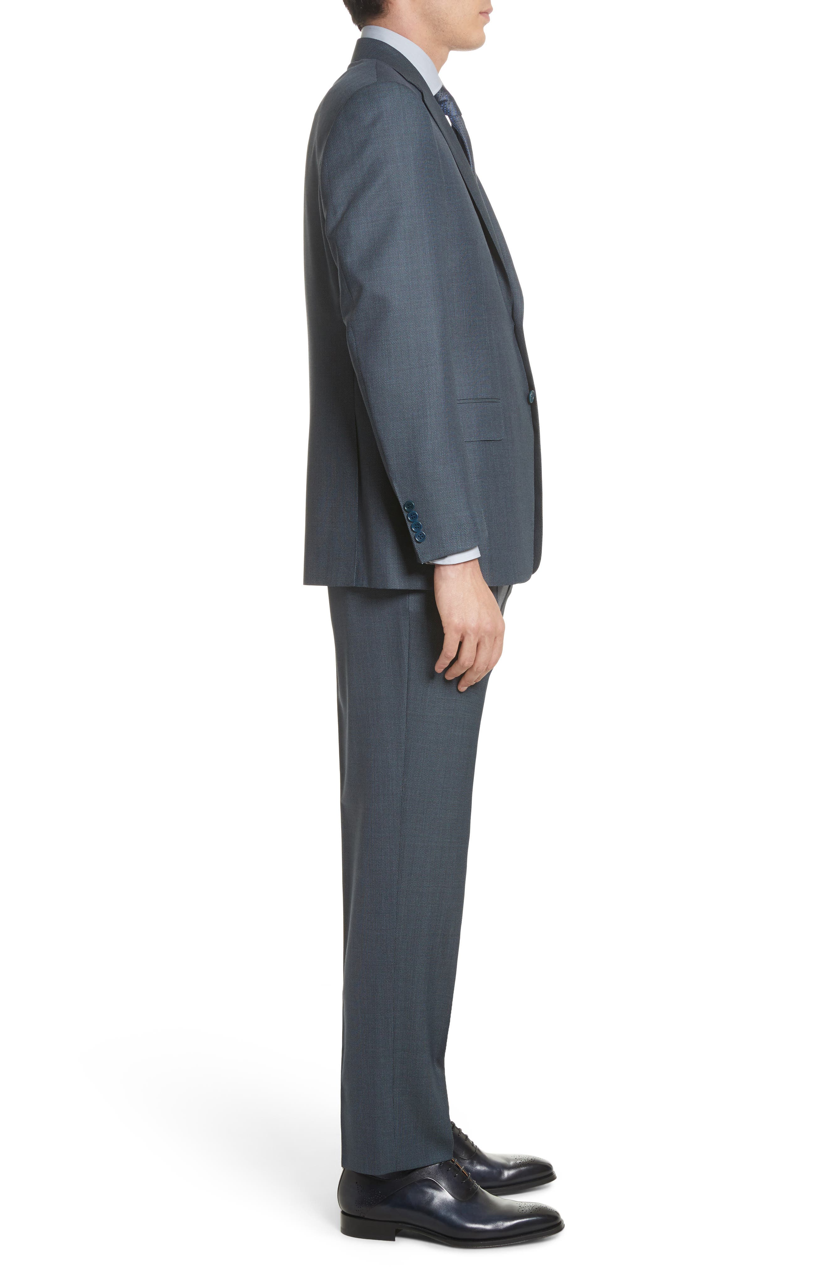 Classic Fit Solid Wool Suit,                             Alternate thumbnail 3, color,                             420