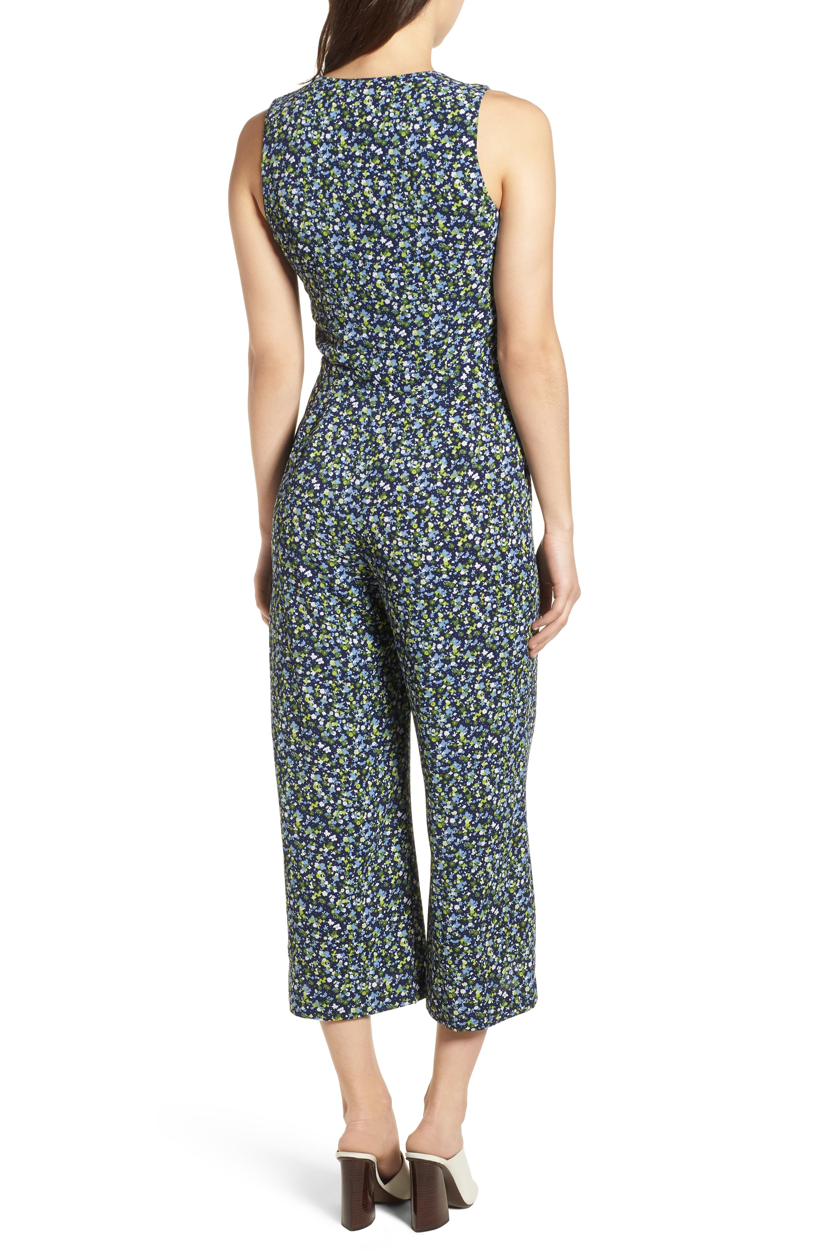 Wildflower Print Jumpsuit,                             Alternate thumbnail 2, color,                             362
