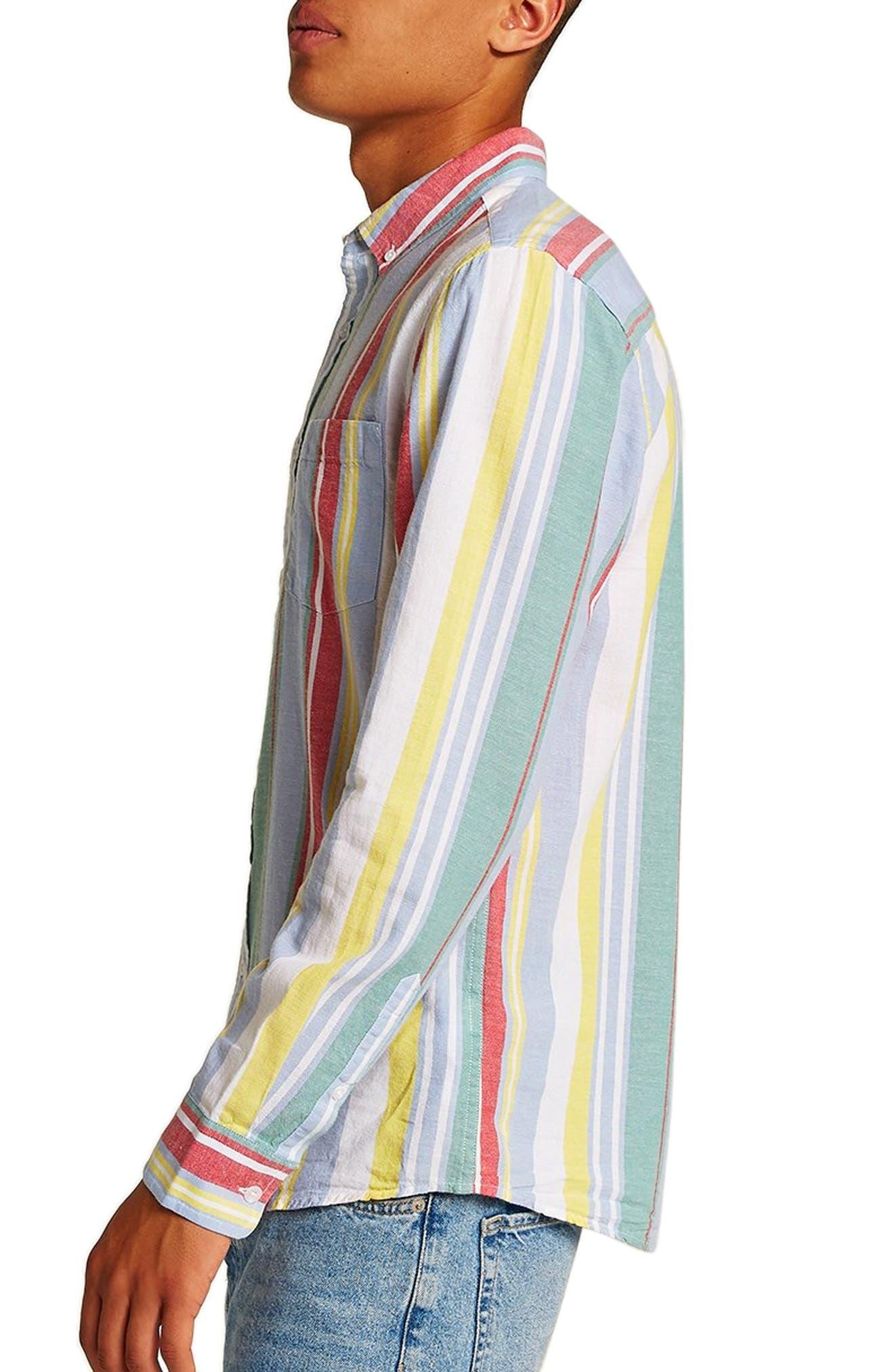 Candy Stripe Shirt,                             Alternate thumbnail 3, color,                             100