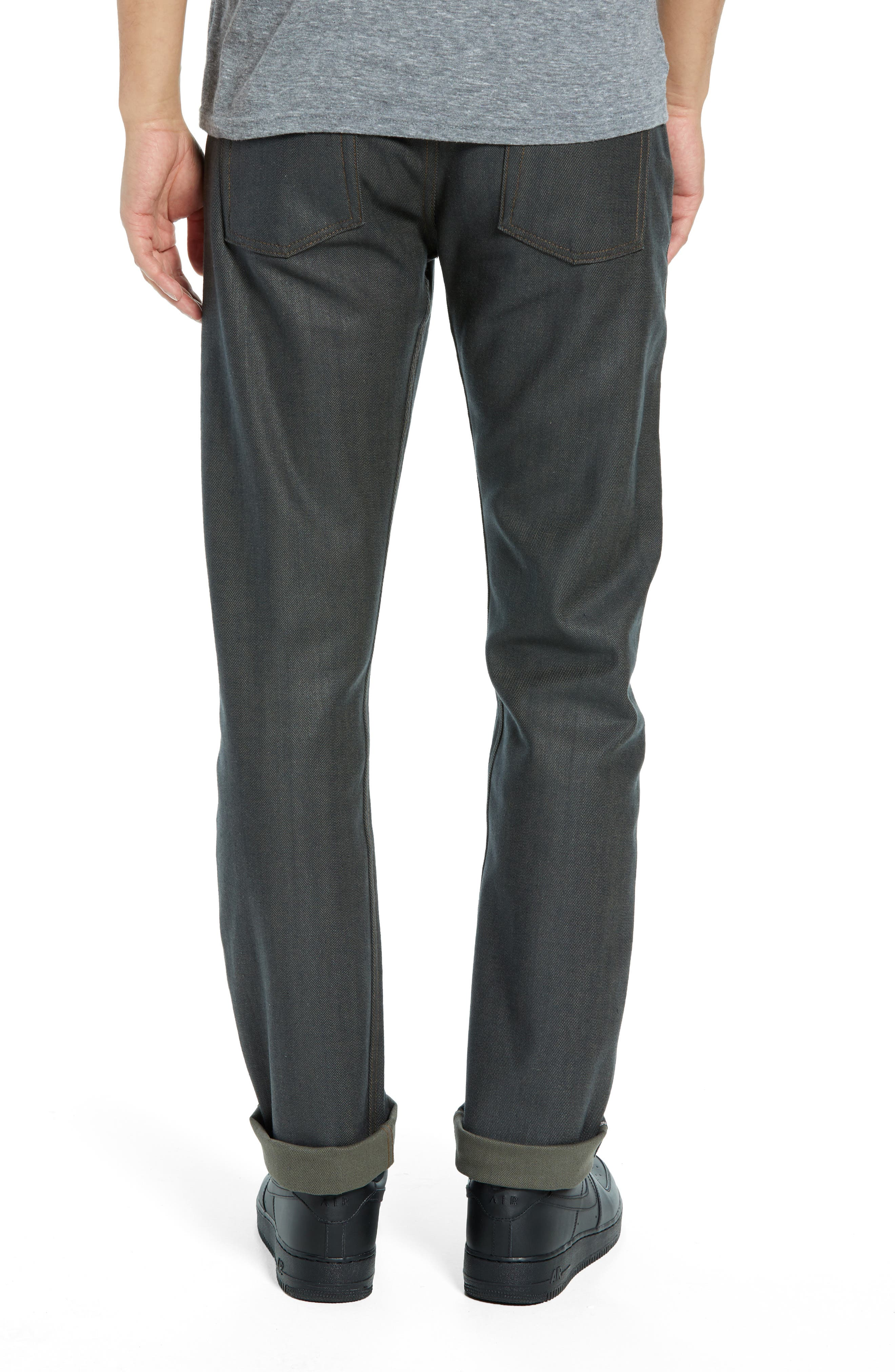 Weird Guy Slim Fit Jeans,                             Alternate thumbnail 2, color,                             HUNTER STRETCH SELVEDGE