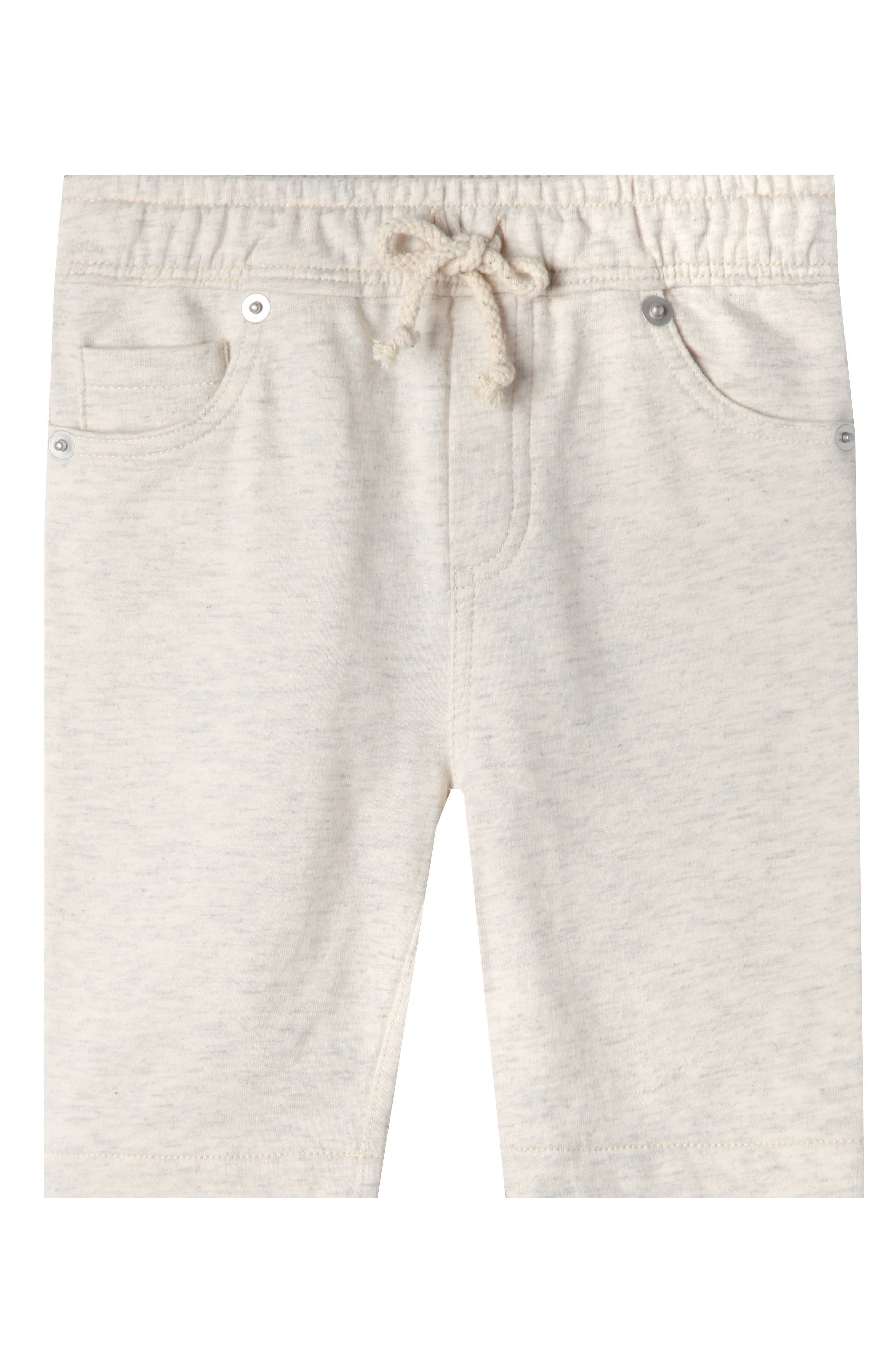Luke Organic Cotton Shorts,                             Main thumbnail 1, color,                             OATMEAL HEATHER
