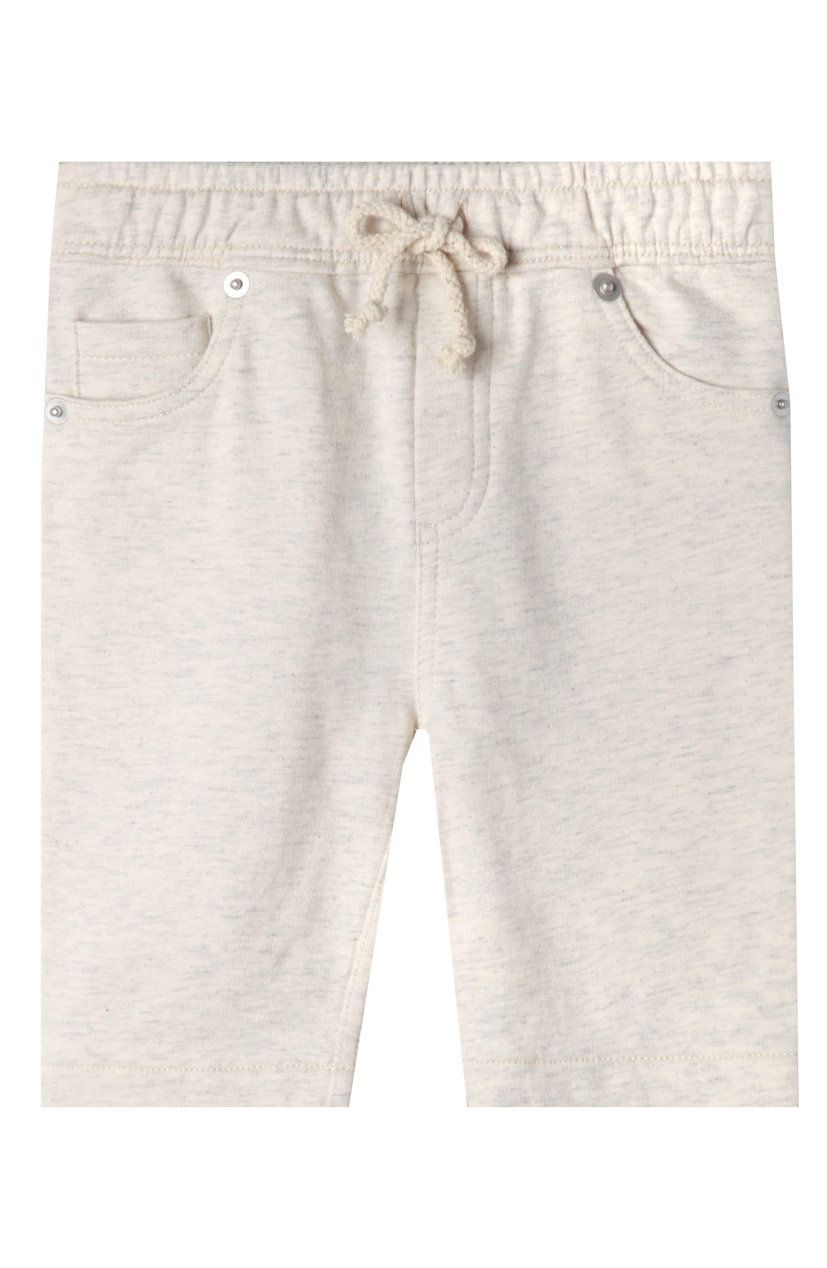 Luke Organic Cotton Shorts,                         Main,                         color, OATMEAL HEATHER
