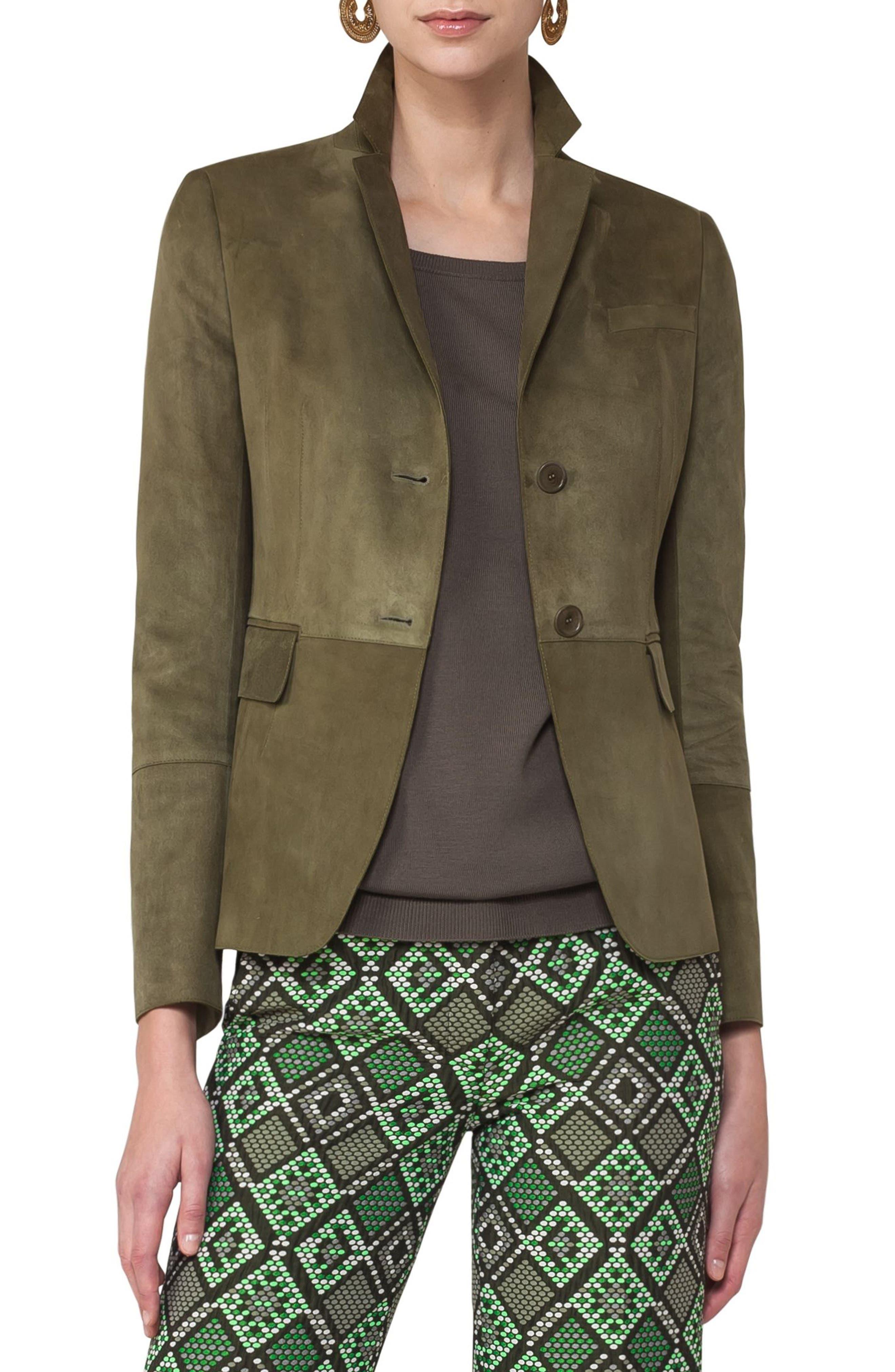 Suede Jacket,                         Main,                         color, 300