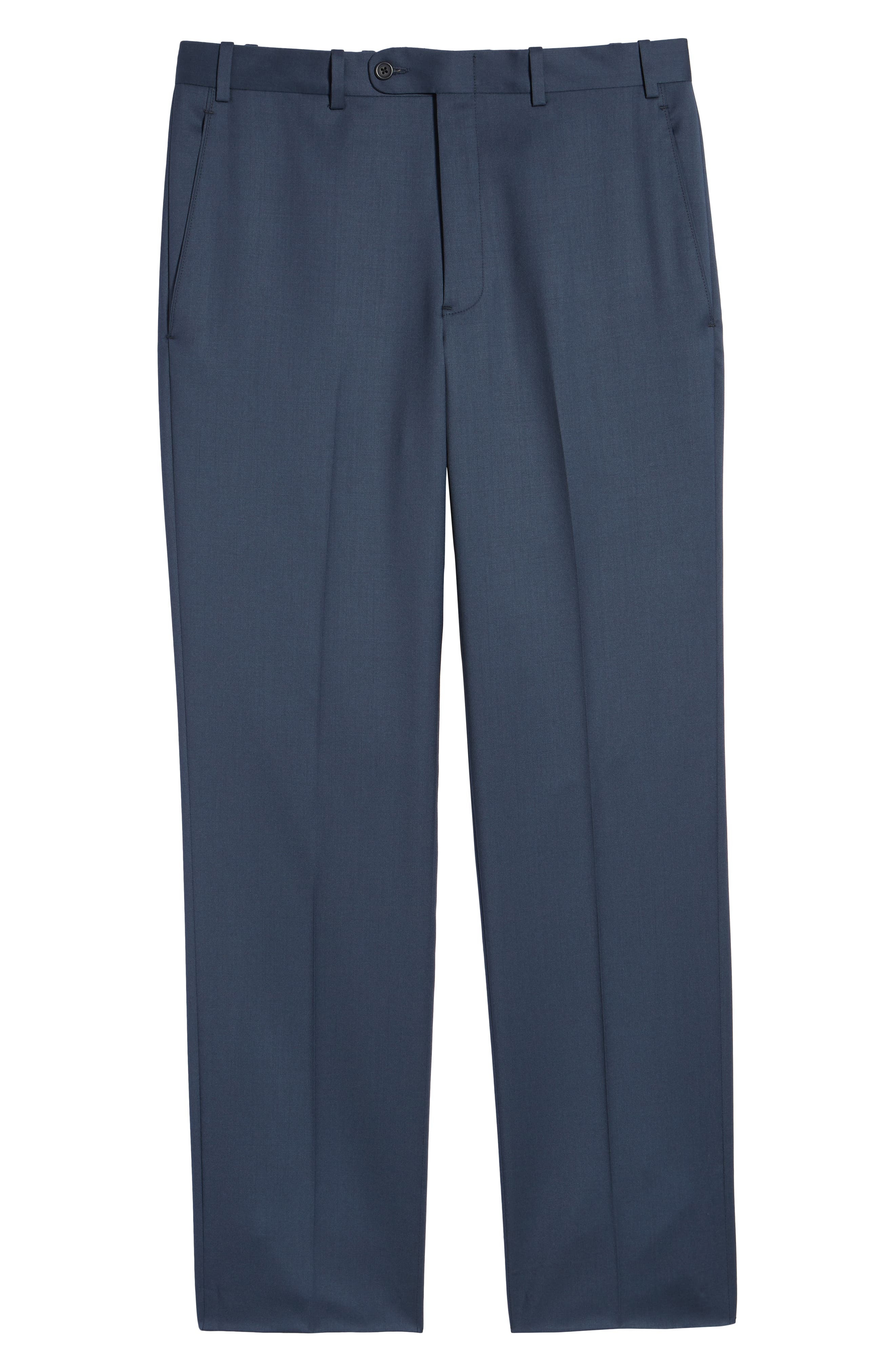 Torino Flat Front Wool Gabardine Trousers,                             Alternate thumbnail 36, color,