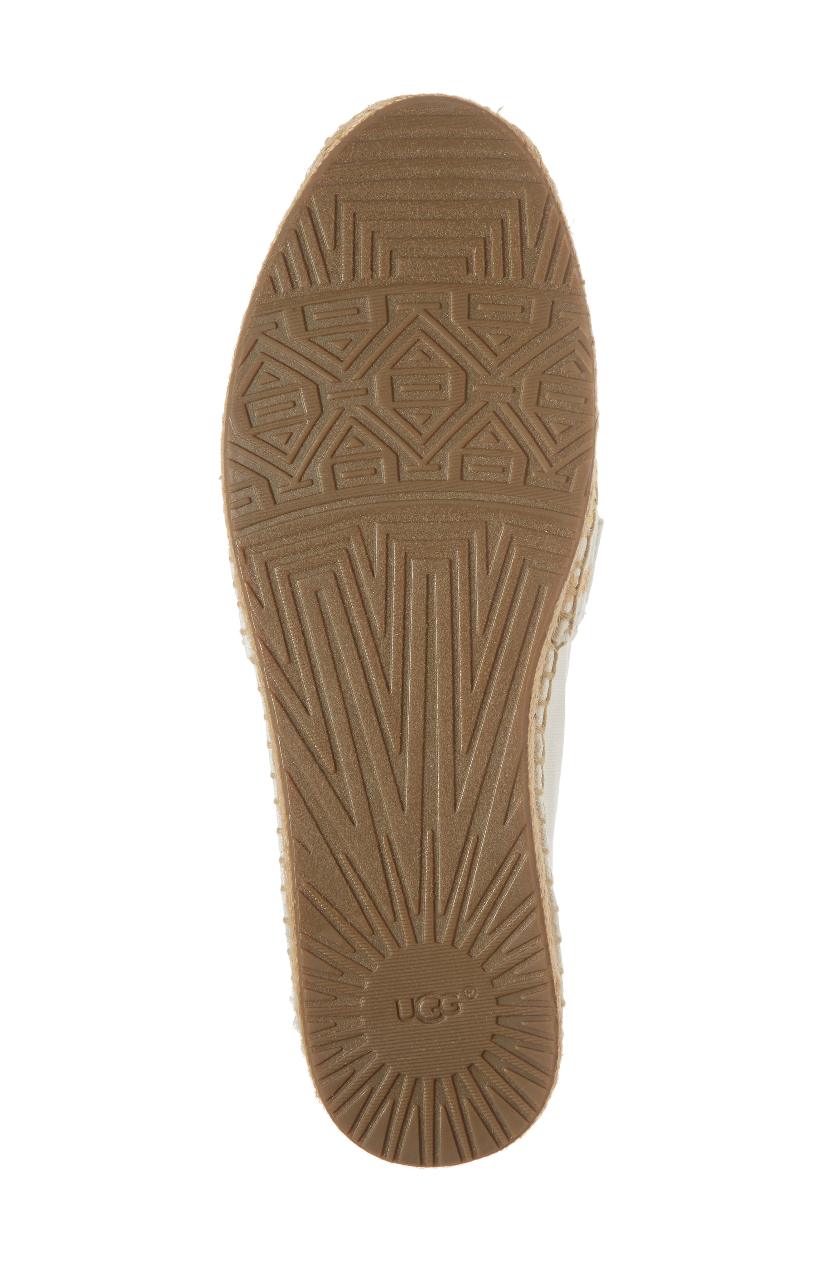 Reneda Stripe Espadrille Flat,                             Alternate thumbnail 6, color,                             100