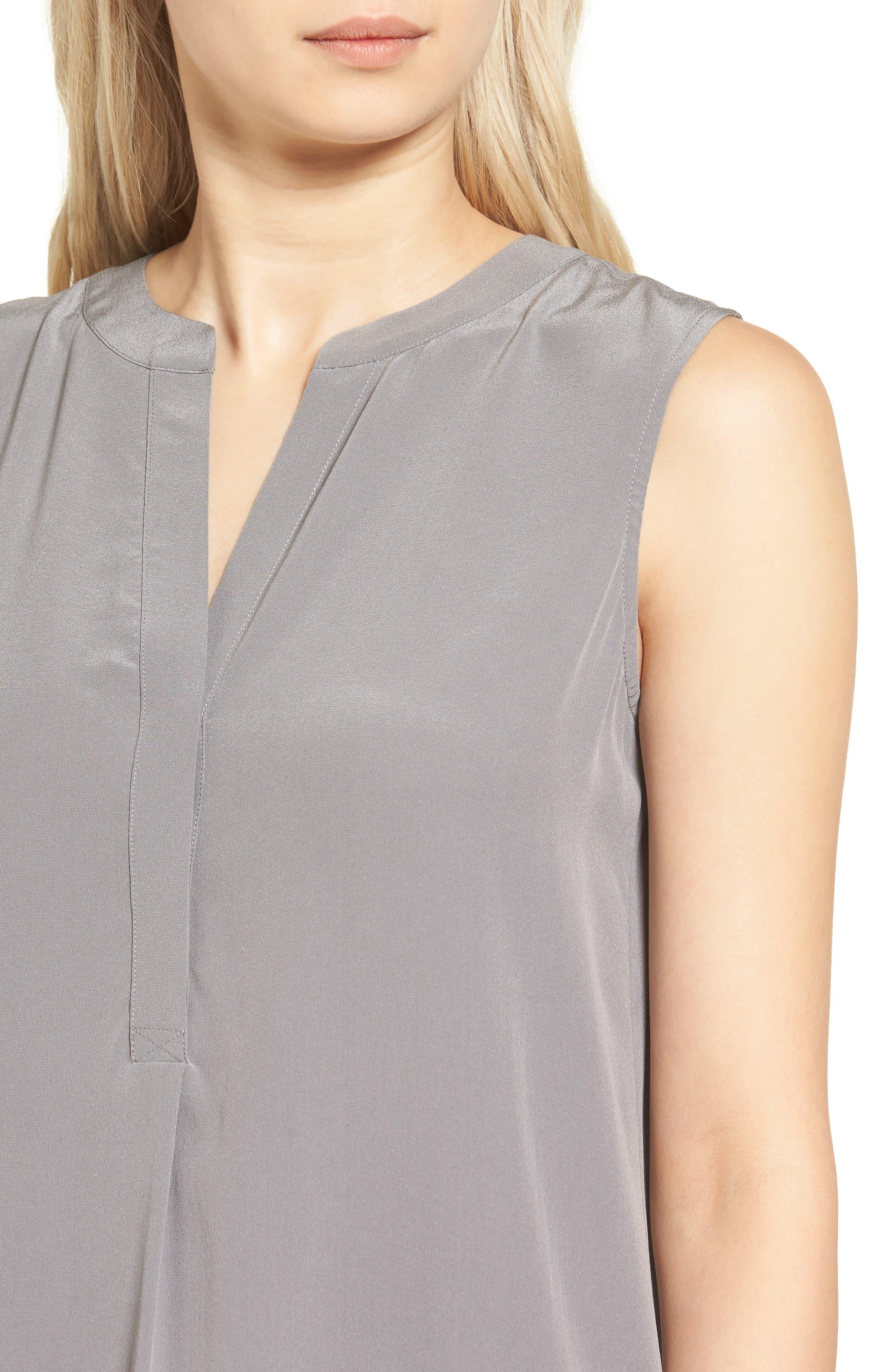 Britt Silk Shift Dress,                             Alternate thumbnail 4, color,                             022