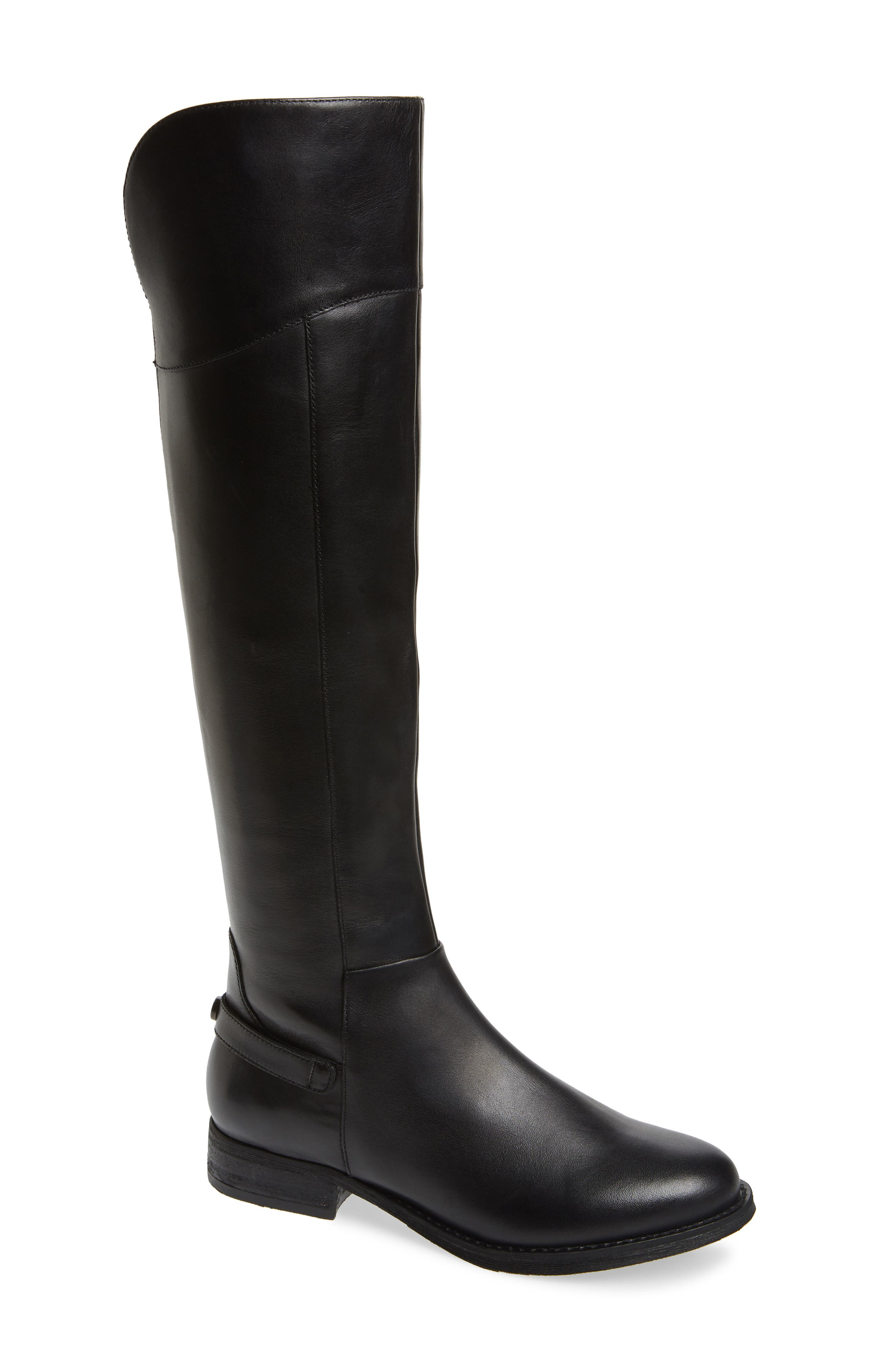 Marianne Over the Knee Boot,                             Main thumbnail 1, color,                             BLACK LEATHER