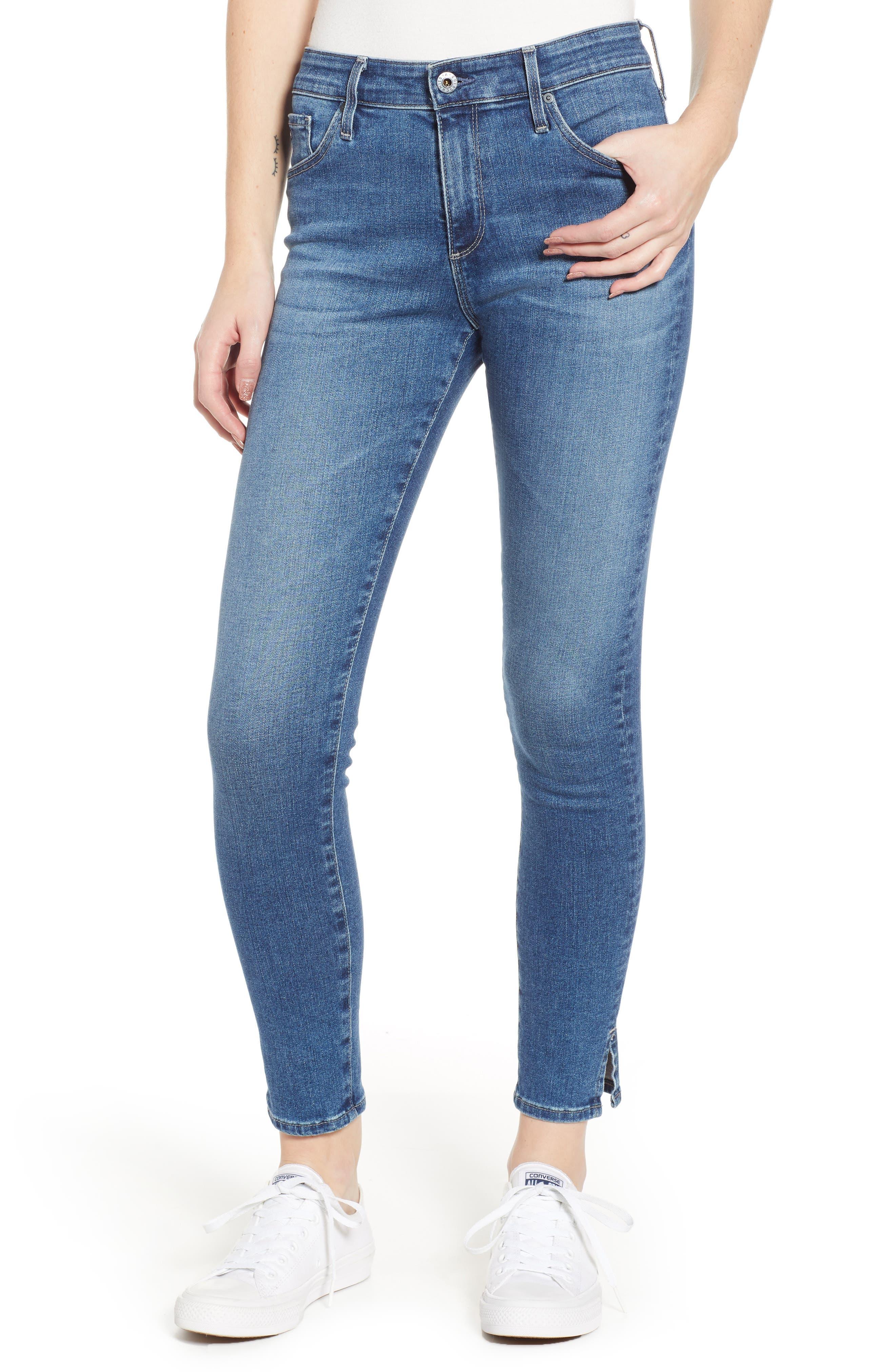 Ag Jeans FARRAH HIGH WAIST SPLIT HEM SKINNY JEANS