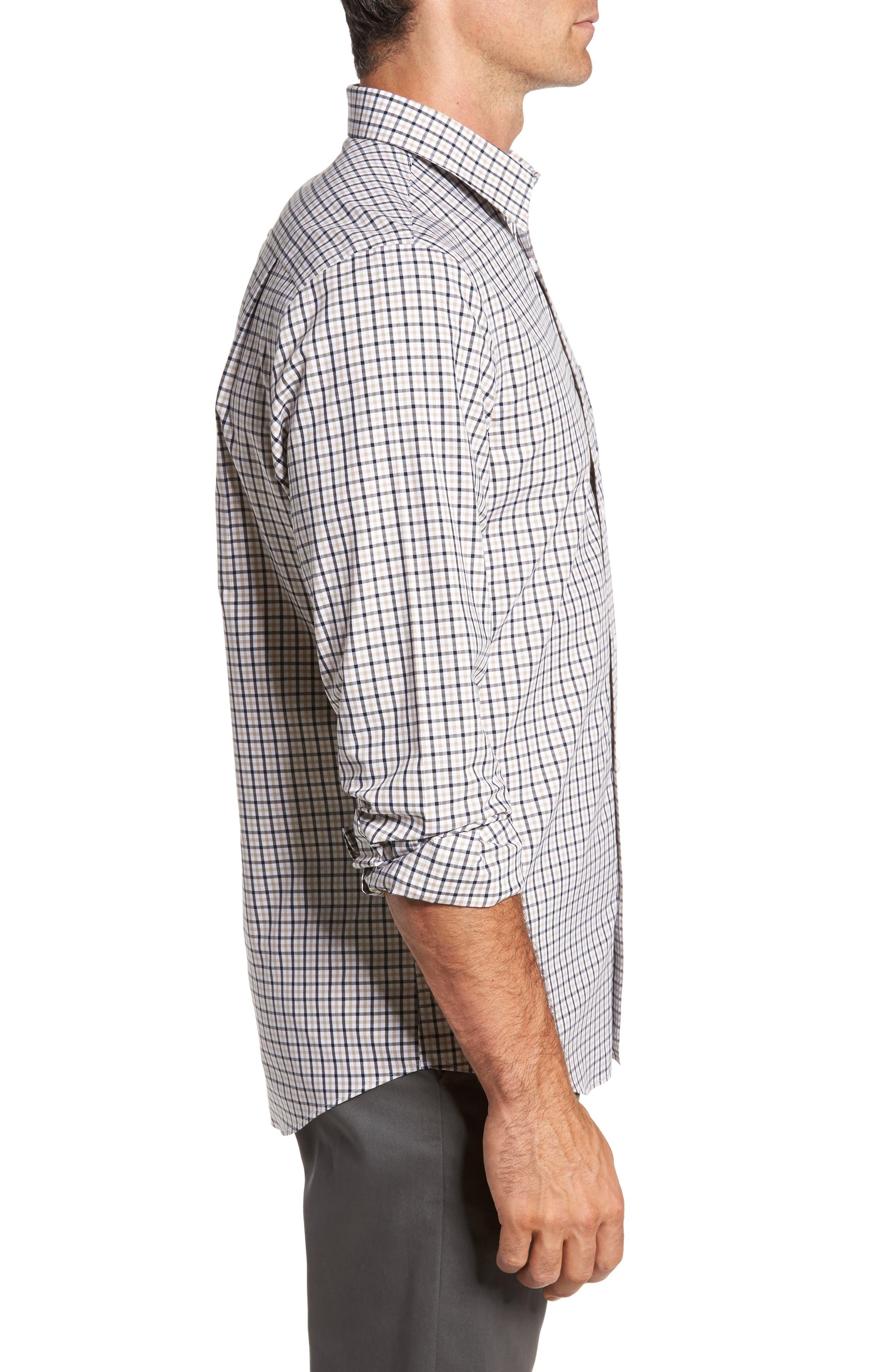 Smartcare<sup>™</sup> Regular Fit Plaid Sport Shirt,                             Alternate thumbnail 18, color,