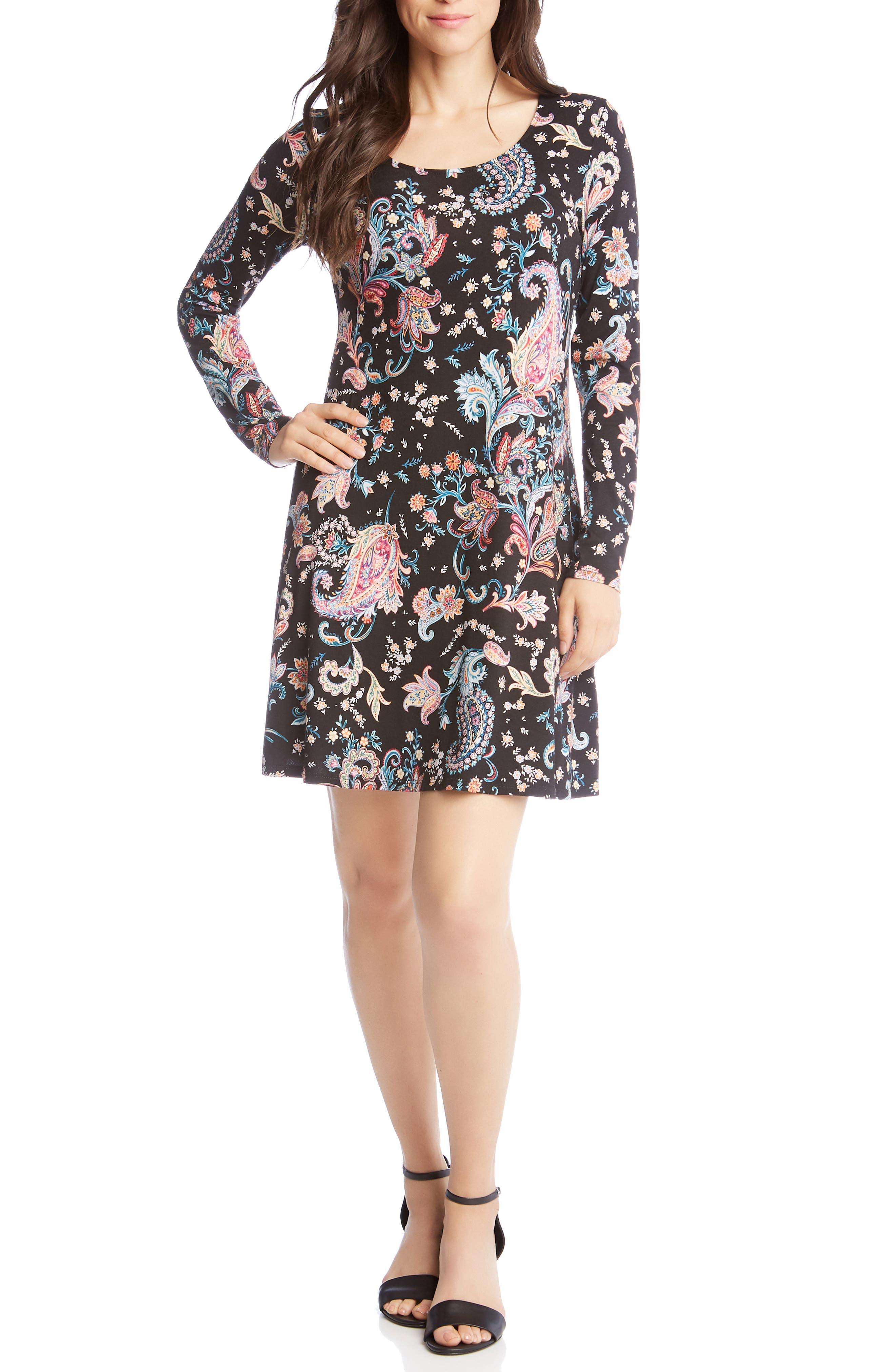 Karen Kane Erin Paisley Dress, Pink