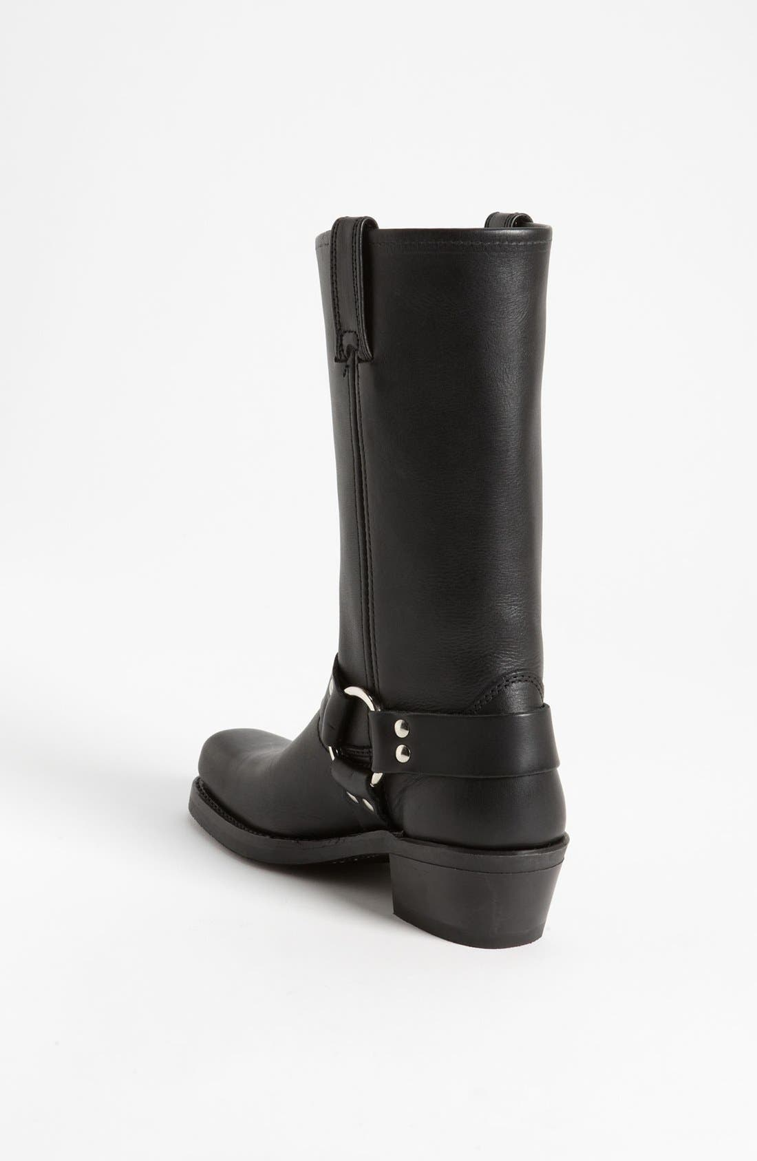 'Harness 12R' Leather Boot,                             Alternate thumbnail 6, color,                             BLACK