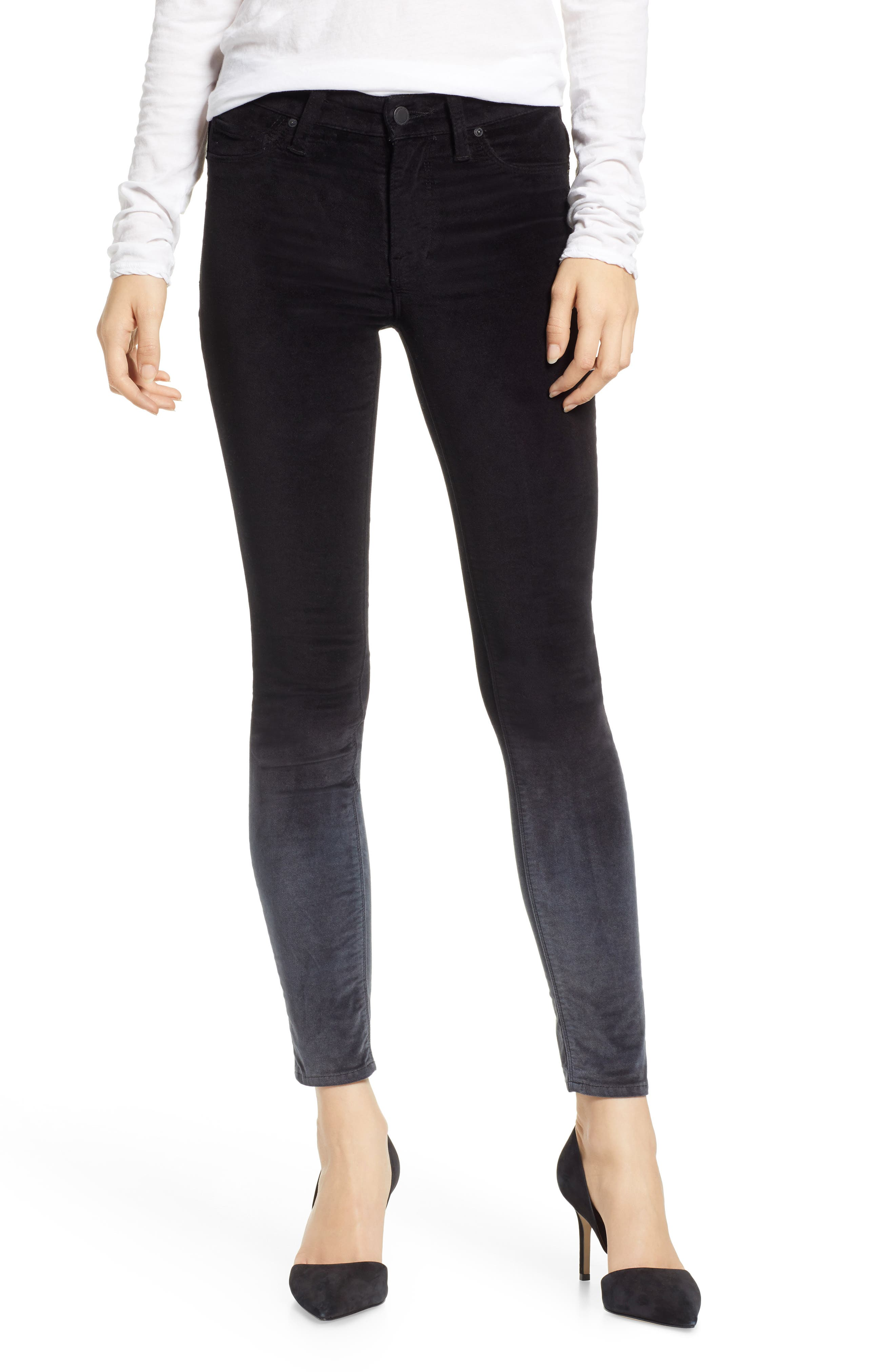 Nico Ankle Super Skinny Jeans,                             Main thumbnail 1, color,                             DEGRADE BLACK SLATE