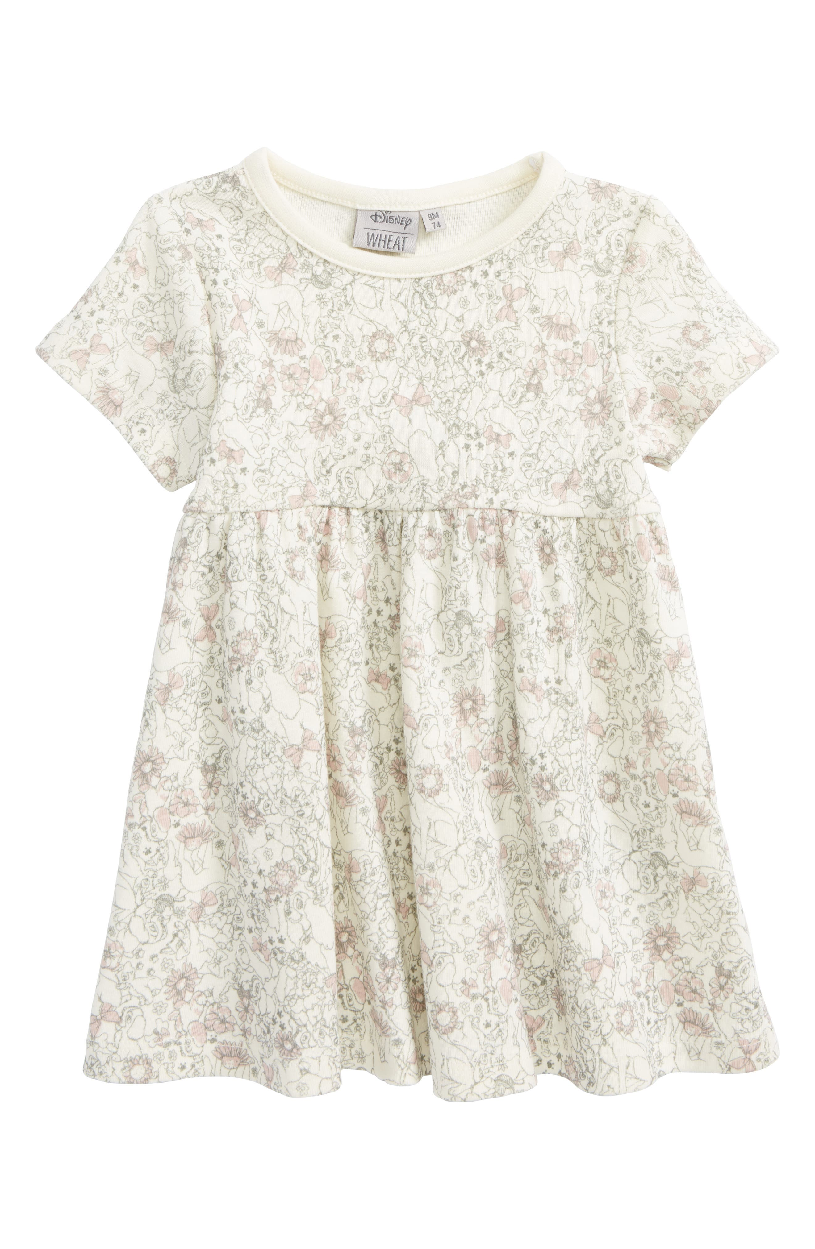 Disney 'Lady & the Tramp' Organic Cotton Dress,                             Main thumbnail 1, color,