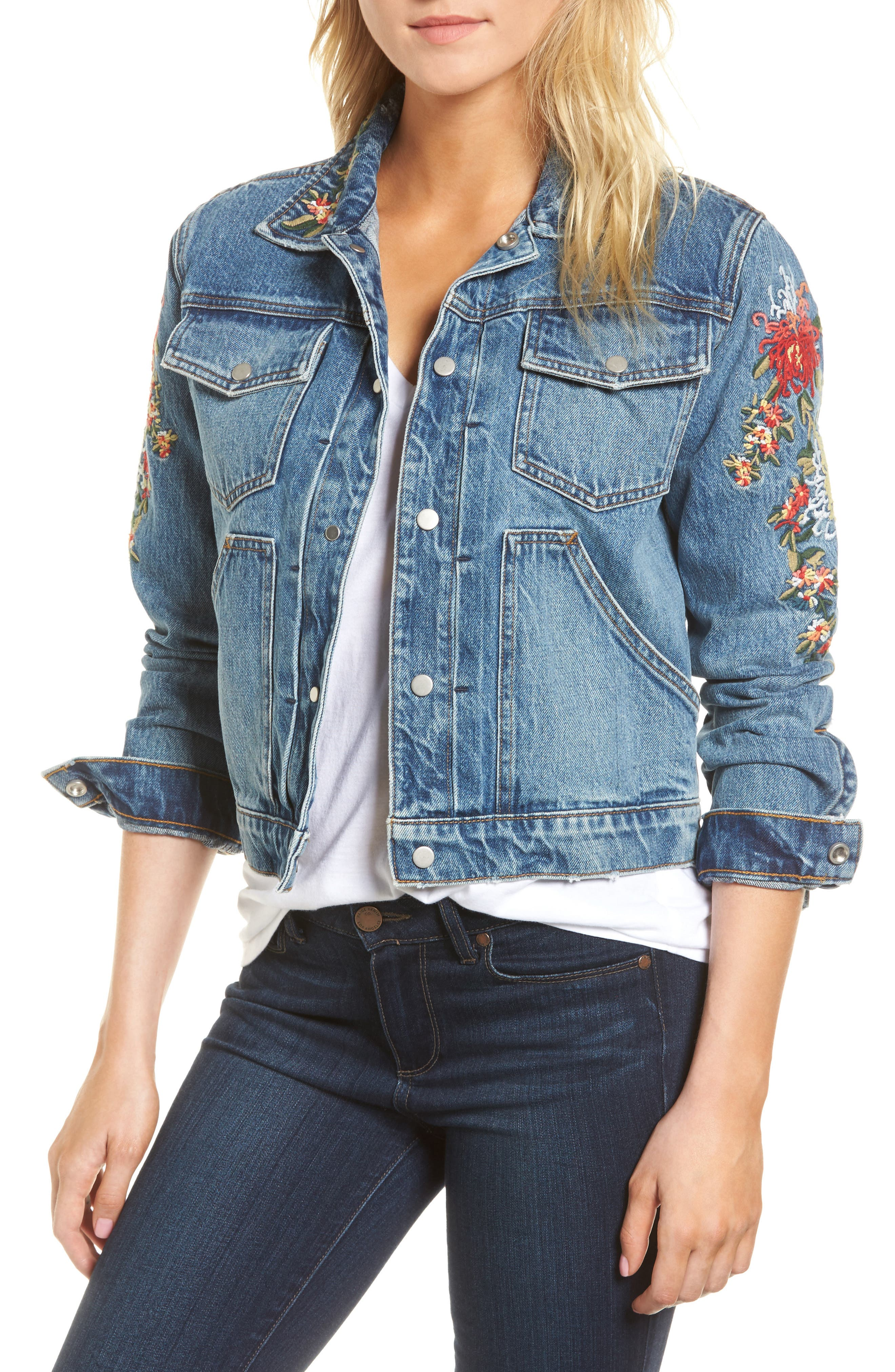 Ren Denim Trucker Jacket,                             Main thumbnail 2, color,