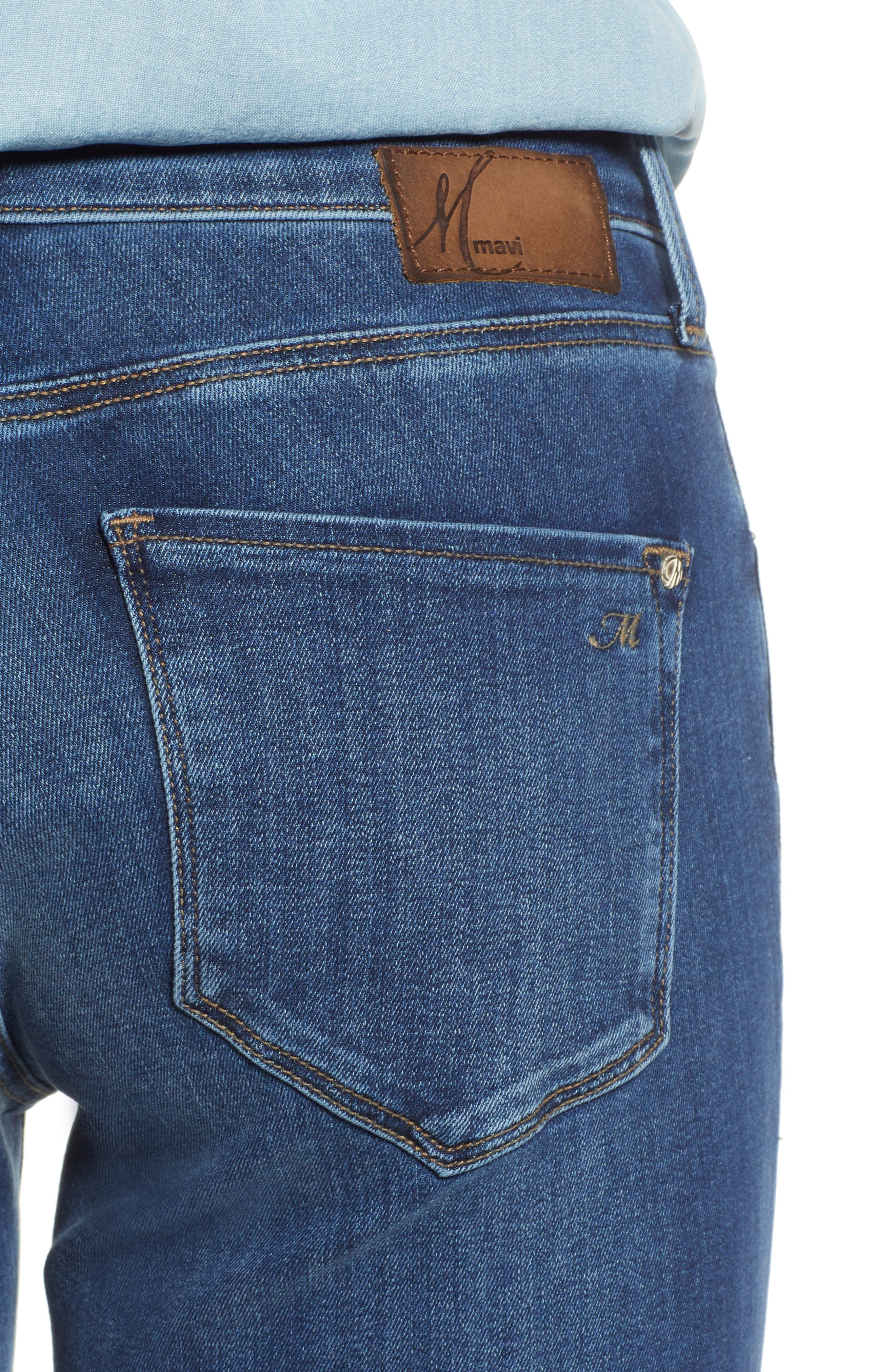 Molly Classic Bootcut Jeans,                             Alternate thumbnail 4, color,                             INDIGO SUPERSOFT