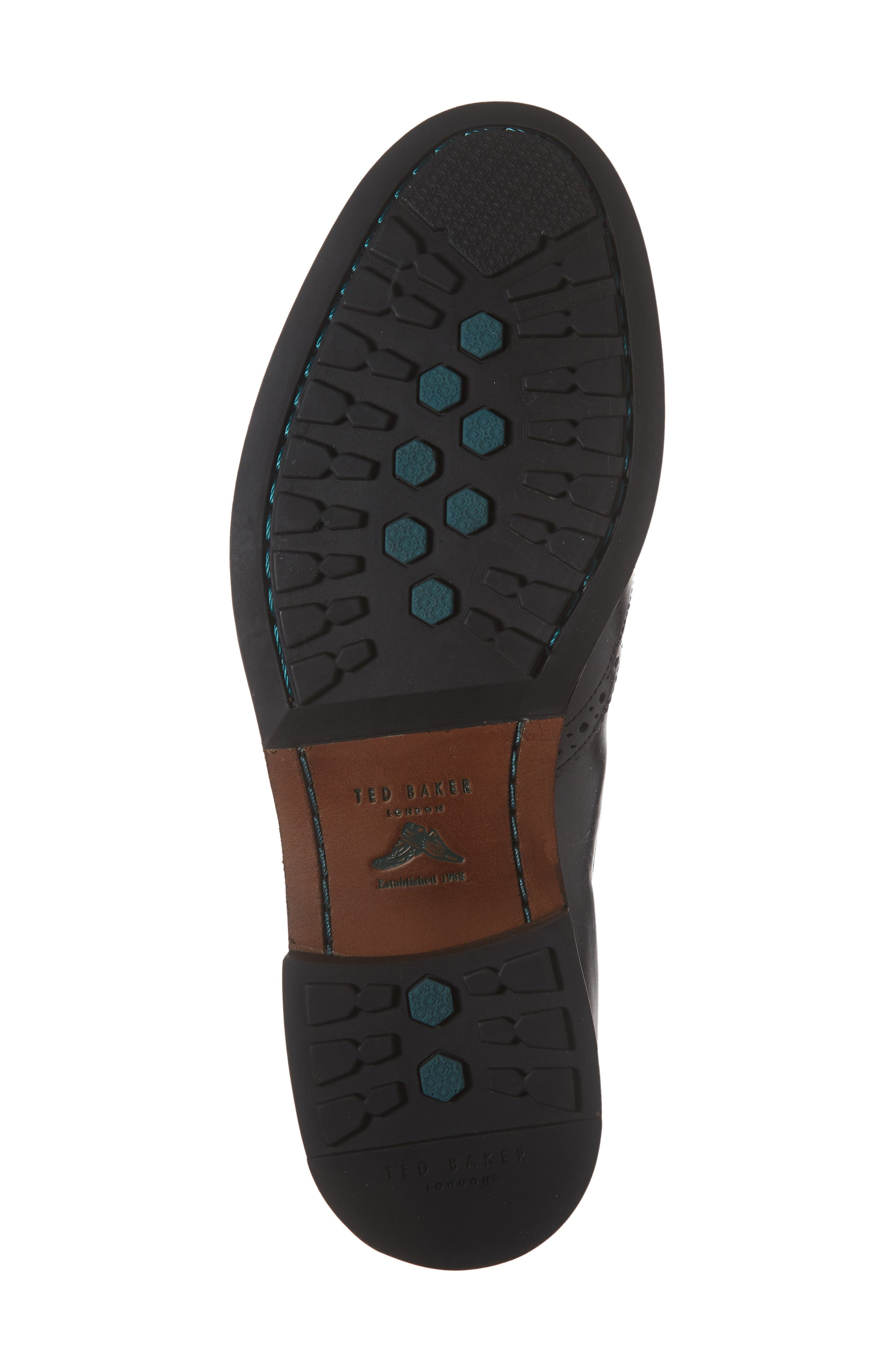 Camheri Wingtip Chelsea Boot,                             Alternate thumbnail 6, color,                             BLACK LEATHER