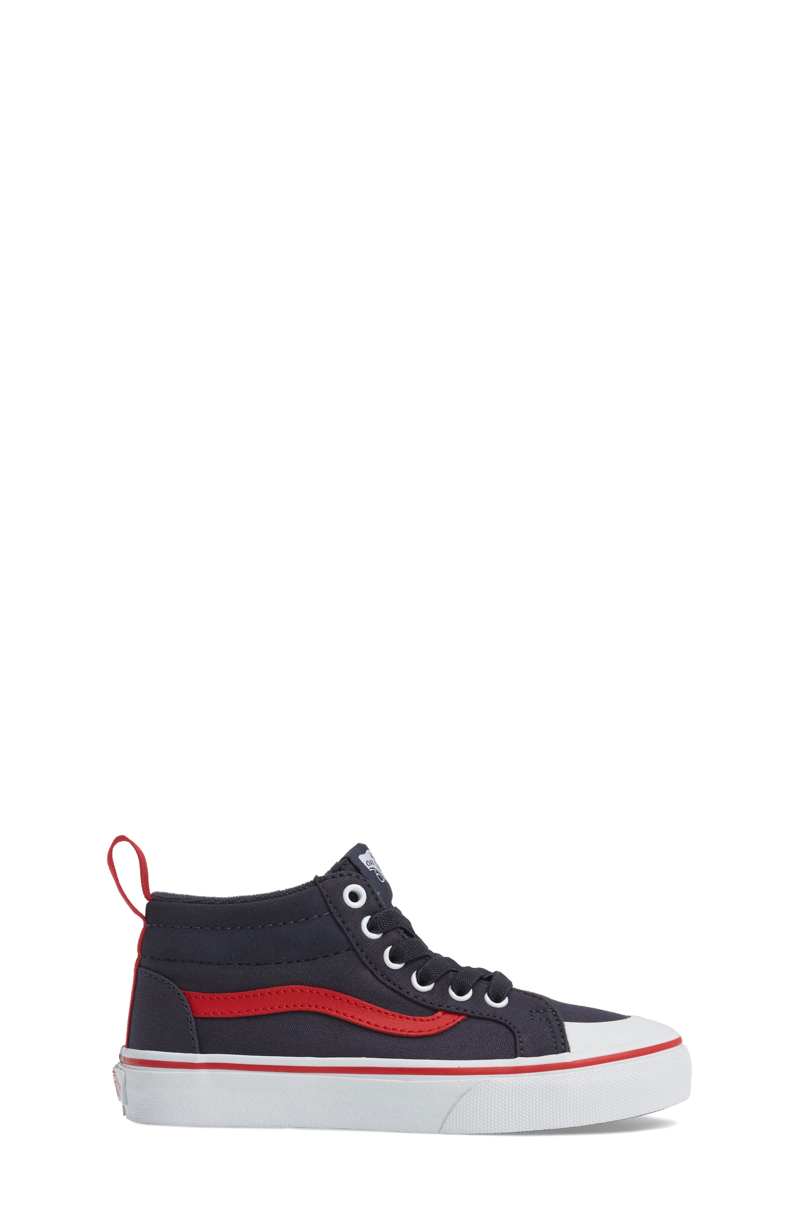 Racer Mid Elastic Lace Sneaker,                             Alternate thumbnail 21, color,