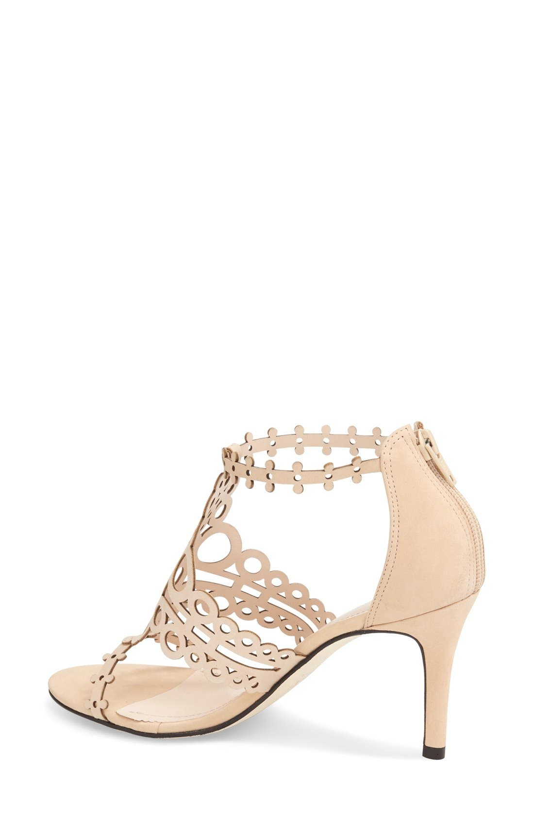 'Antonia' Laser Cut T-Strap Sandal,                             Alternate thumbnail 24, color,