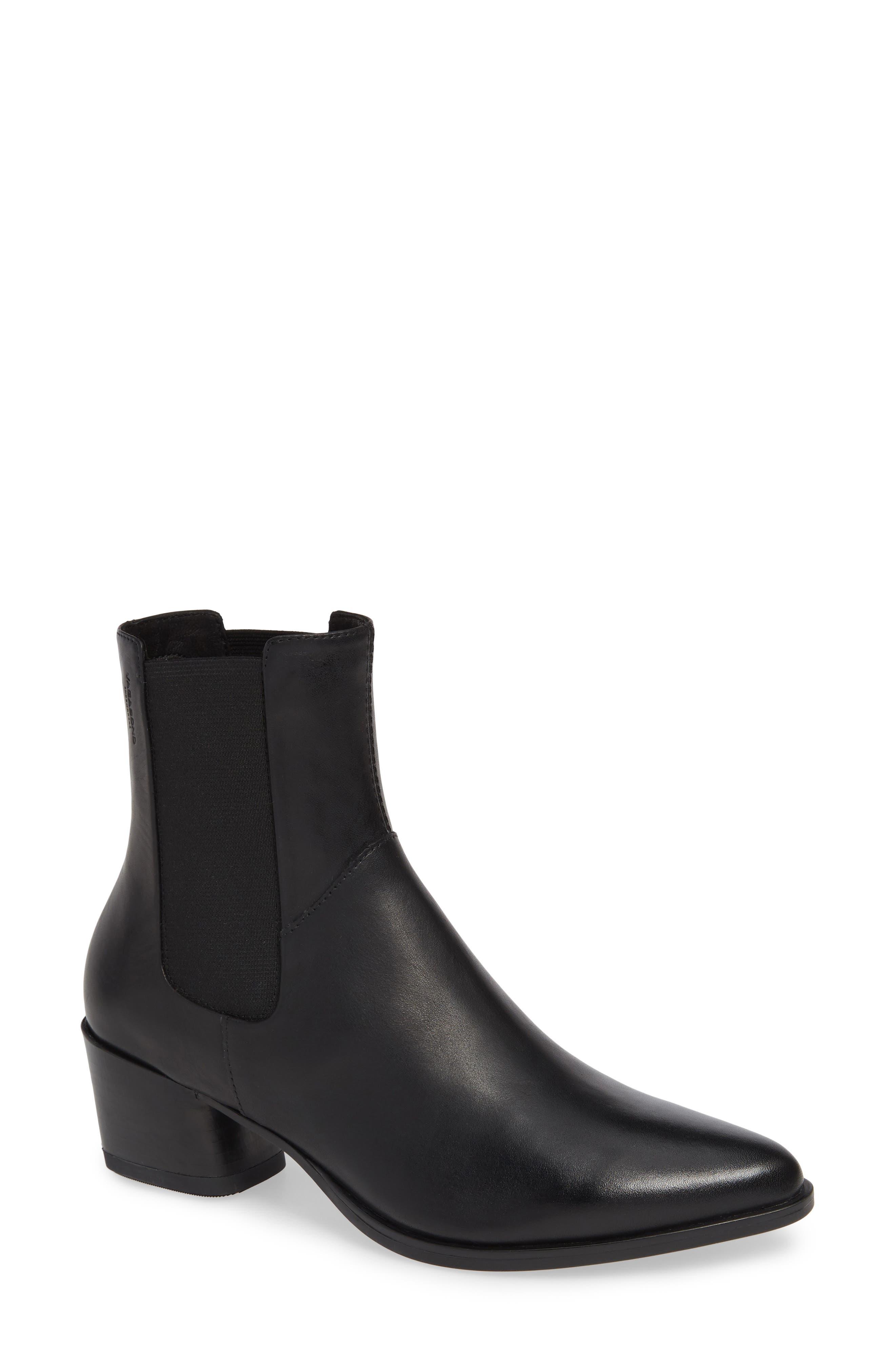 VAGABOND Shoemakers Lara Bootie, Main, color, BLACK LEATHER