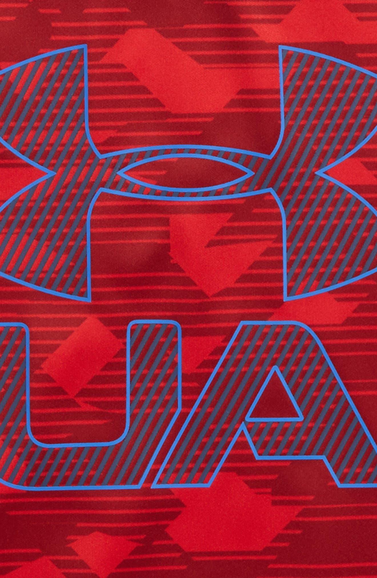 Edge Logo HeatGear<sup>®</sup> T-Shirt,                             Alternate thumbnail 4, color,