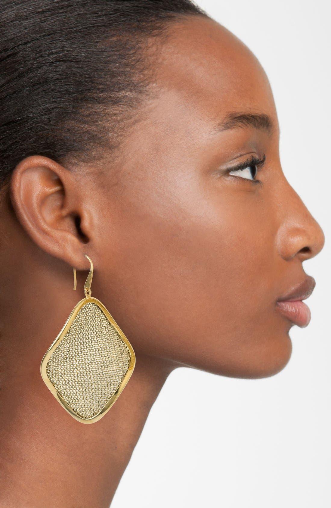'Mesh' Large Drop Earrings,                             Alternate thumbnail 7, color,
