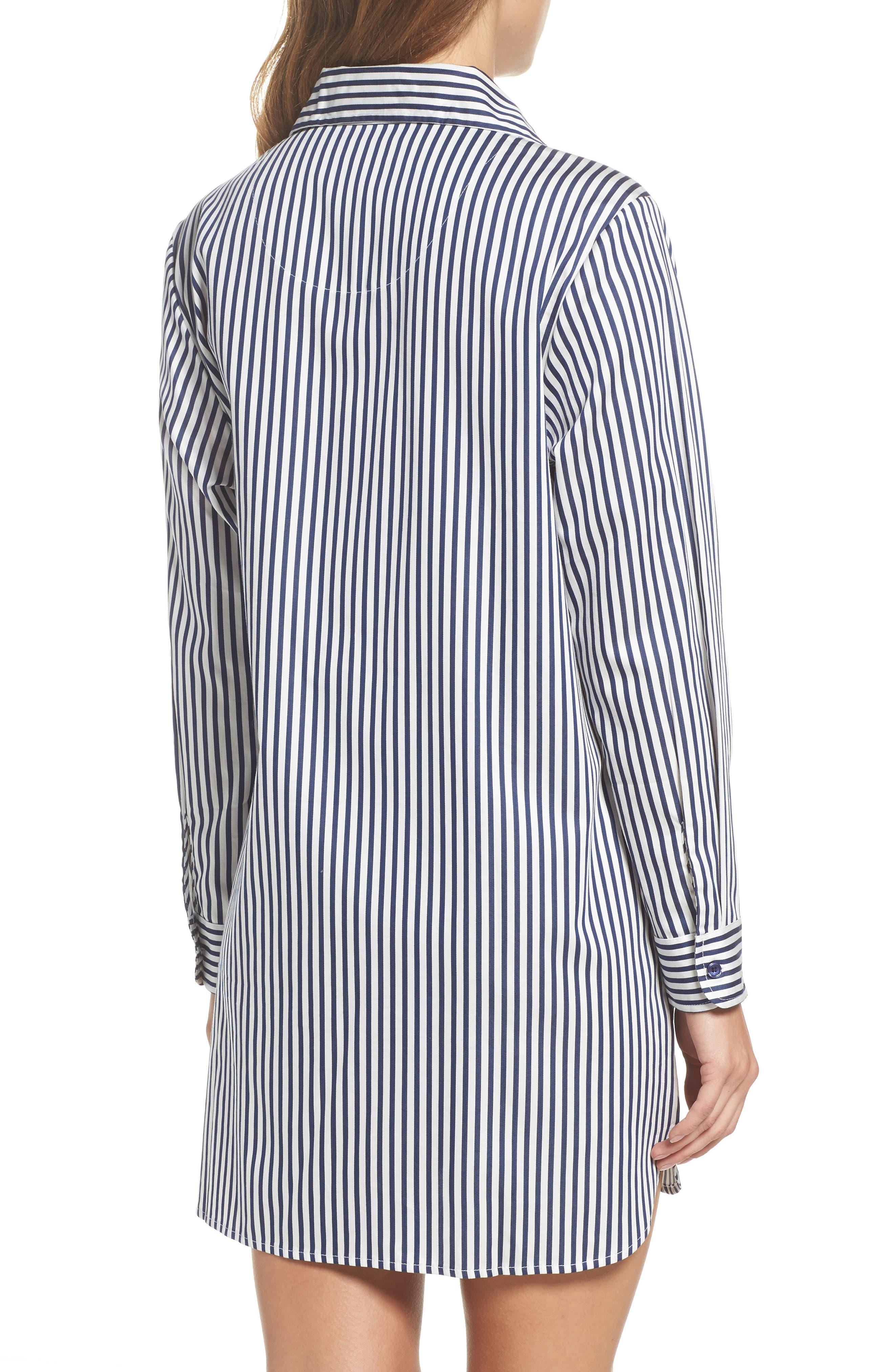 stripe sleep shirt,                             Alternate thumbnail 2, color,