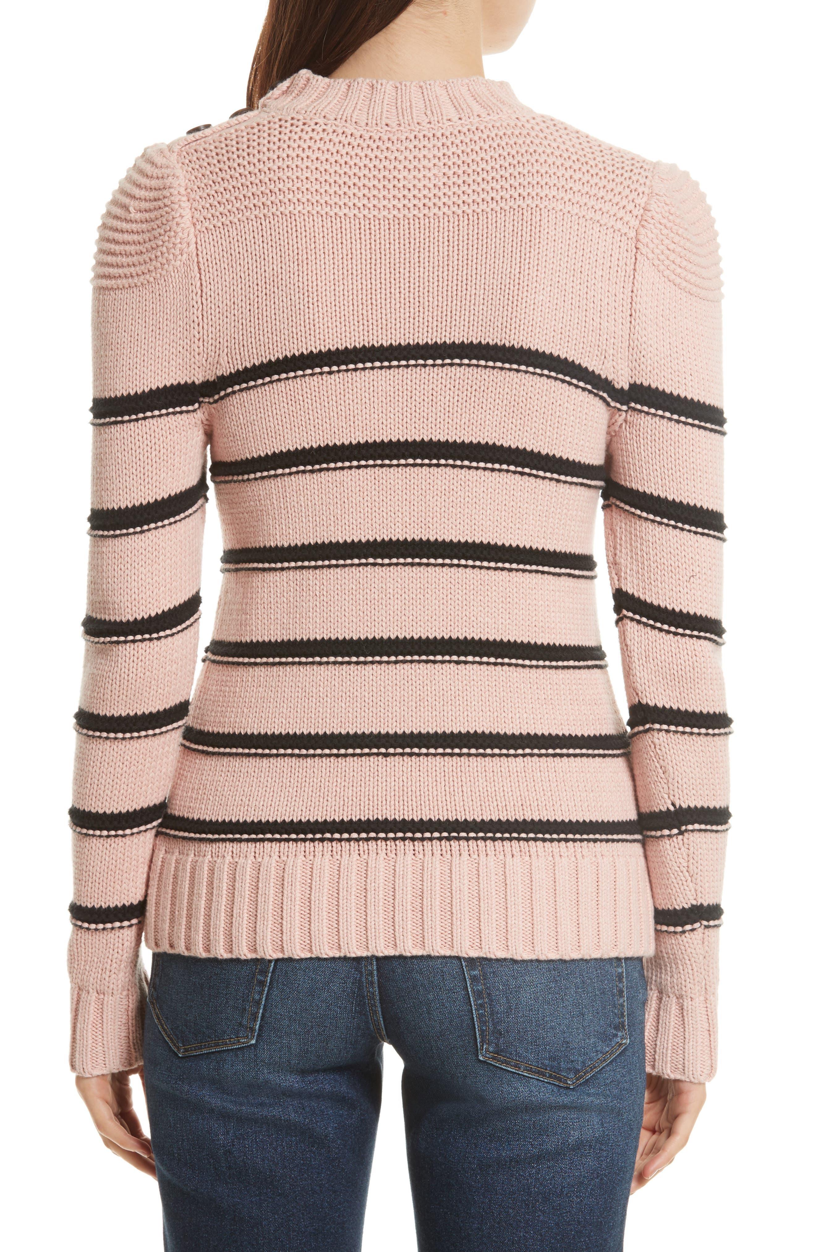 Stripe Cotton & Merino Wool Sweater,                             Alternate thumbnail 2, color,                             695