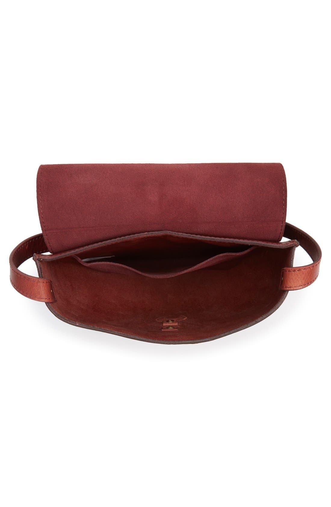 O-Ring Leather Saddle Bag,                             Alternate thumbnail 2, color,                             200