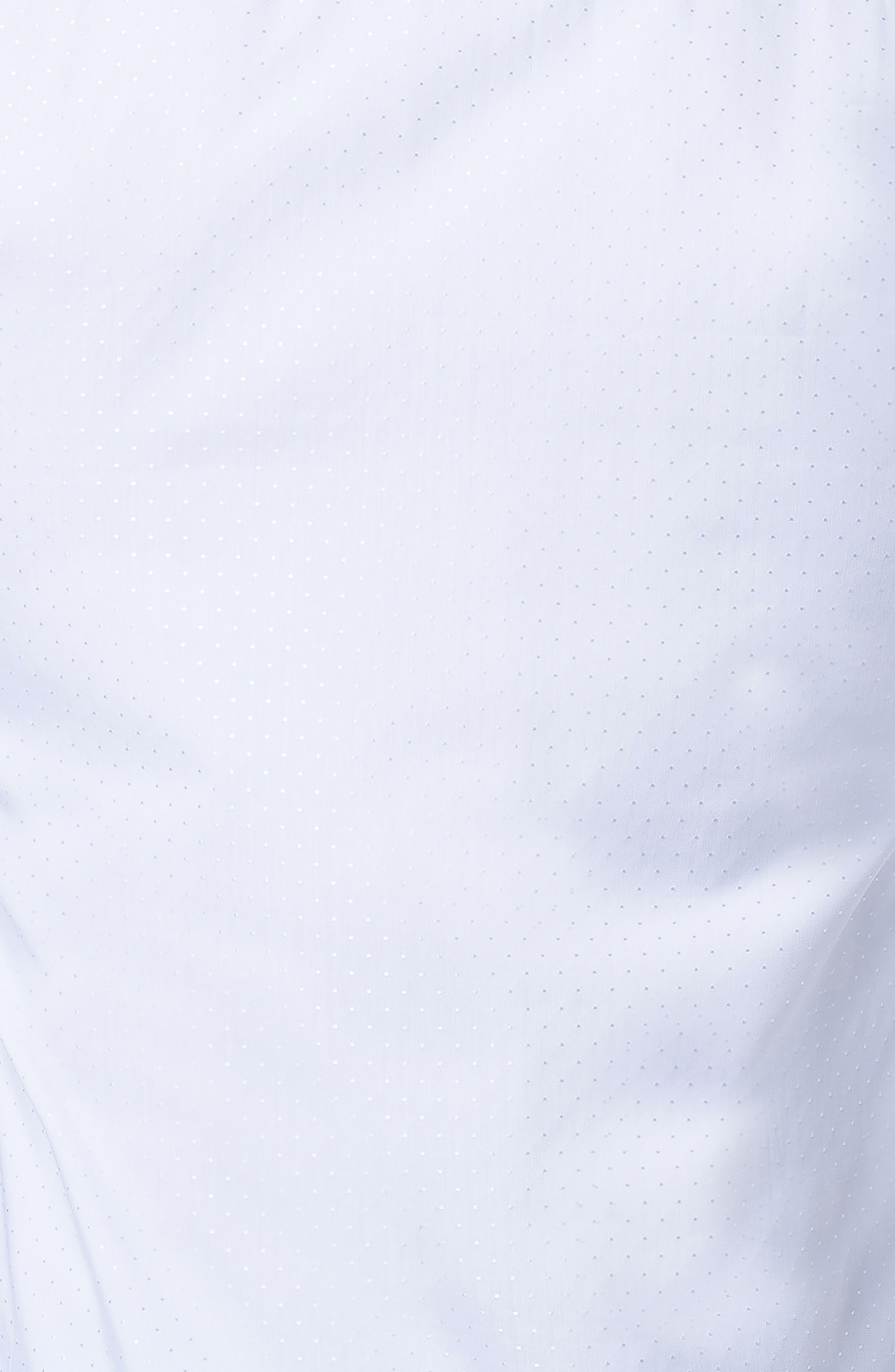 Fibonacci Trim Fit Sparkle Dot Sport Shirt,                             Alternate thumbnail 3, color,                             WHITE