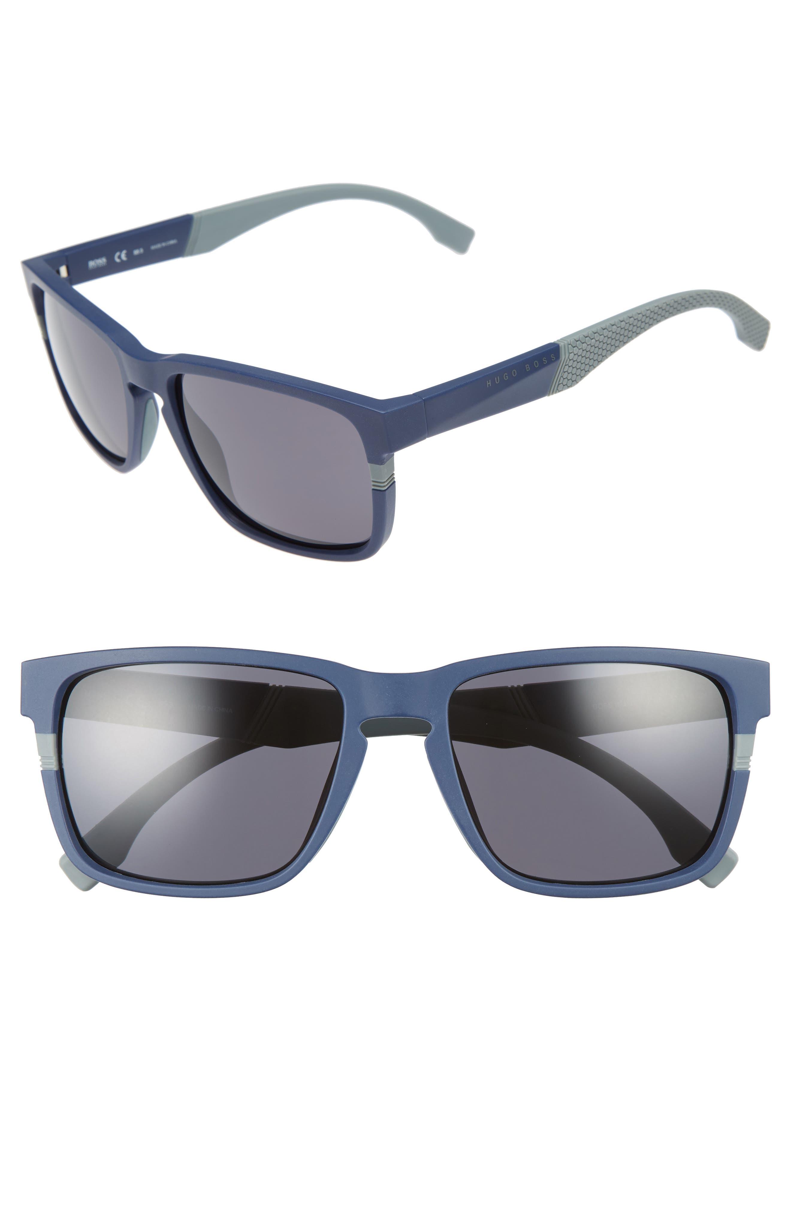 57mm Sunglasses,                         Main,                         color, BLUE/ GREY BLUE
