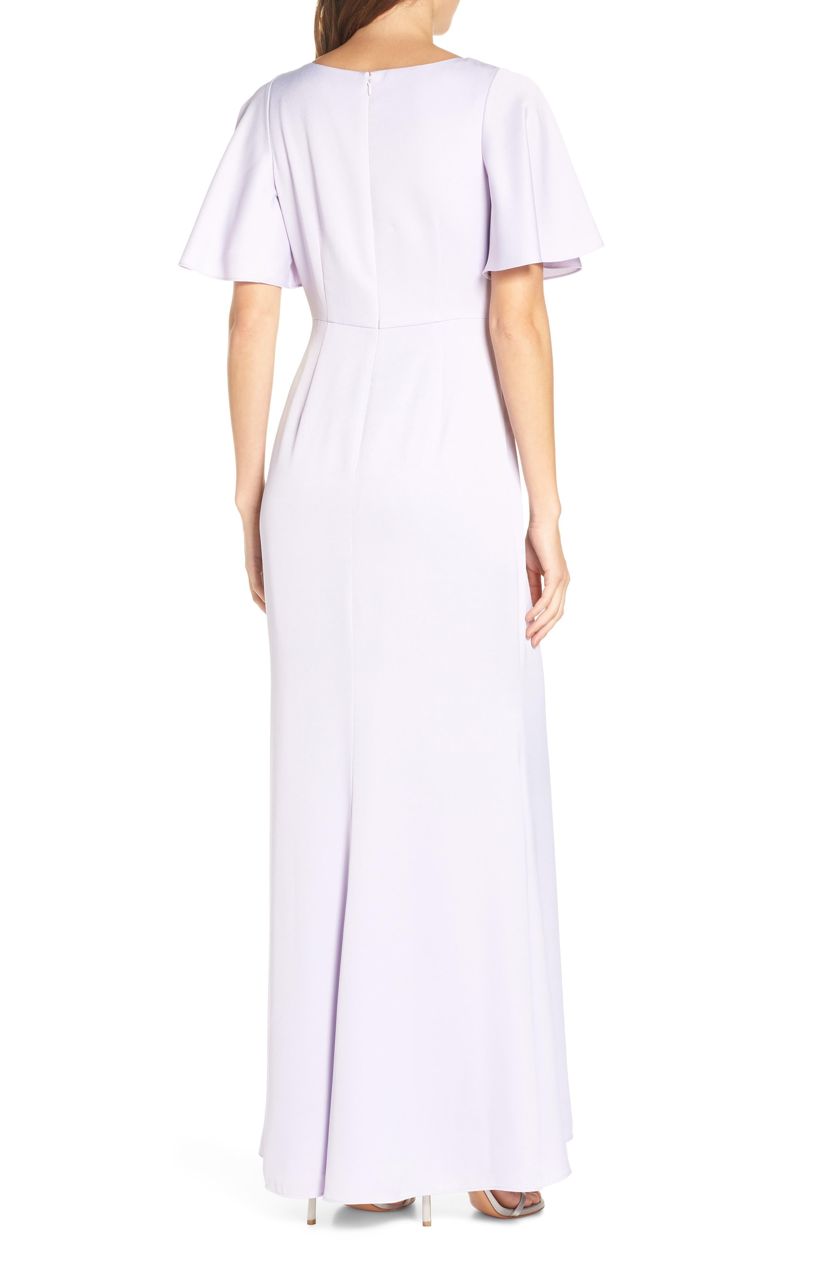 Asymmetrical Neckline Evening Dress,                             Alternate thumbnail 2, color,                             LILAC