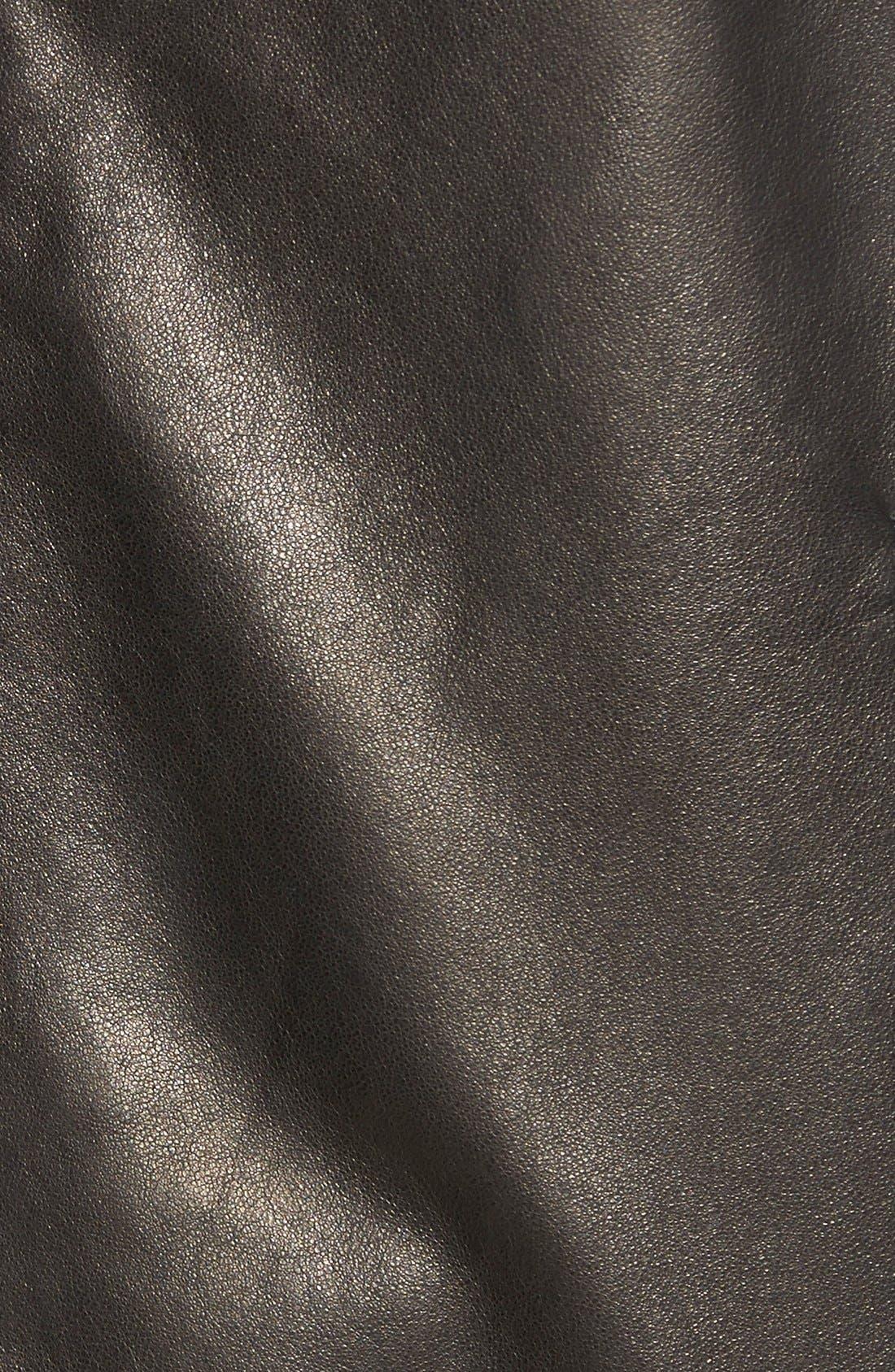 Lambskin Leather Jacket,                             Alternate thumbnail 5, color,                             MIDNITE