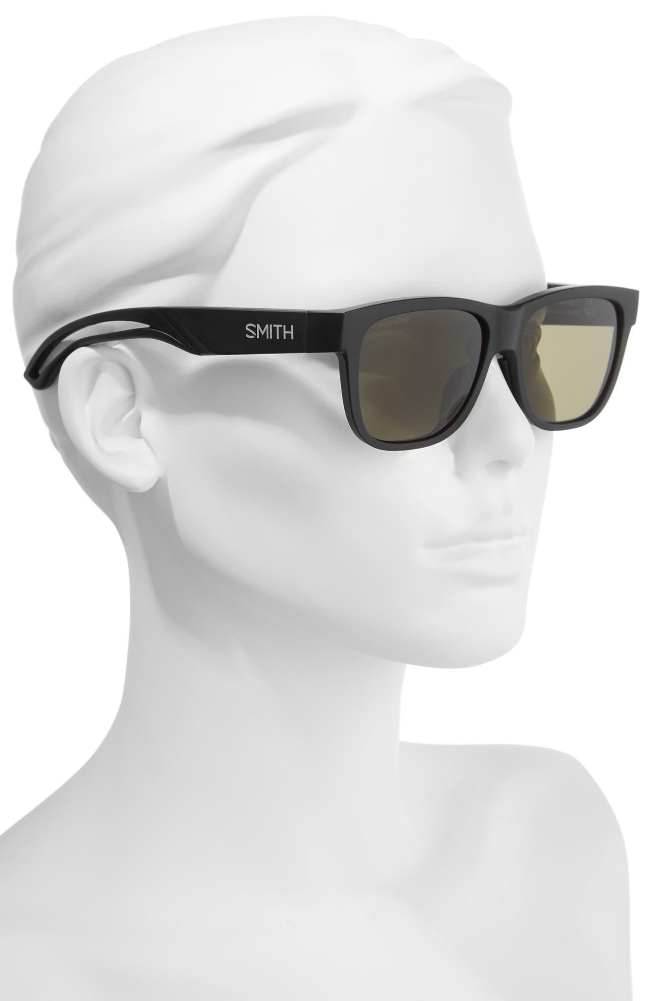 Lowdown Focus Slim 56mm ChromaPop Sunglasses,                             Alternate thumbnail 2, color,                             MATTE BLACK/ GREY GREEN