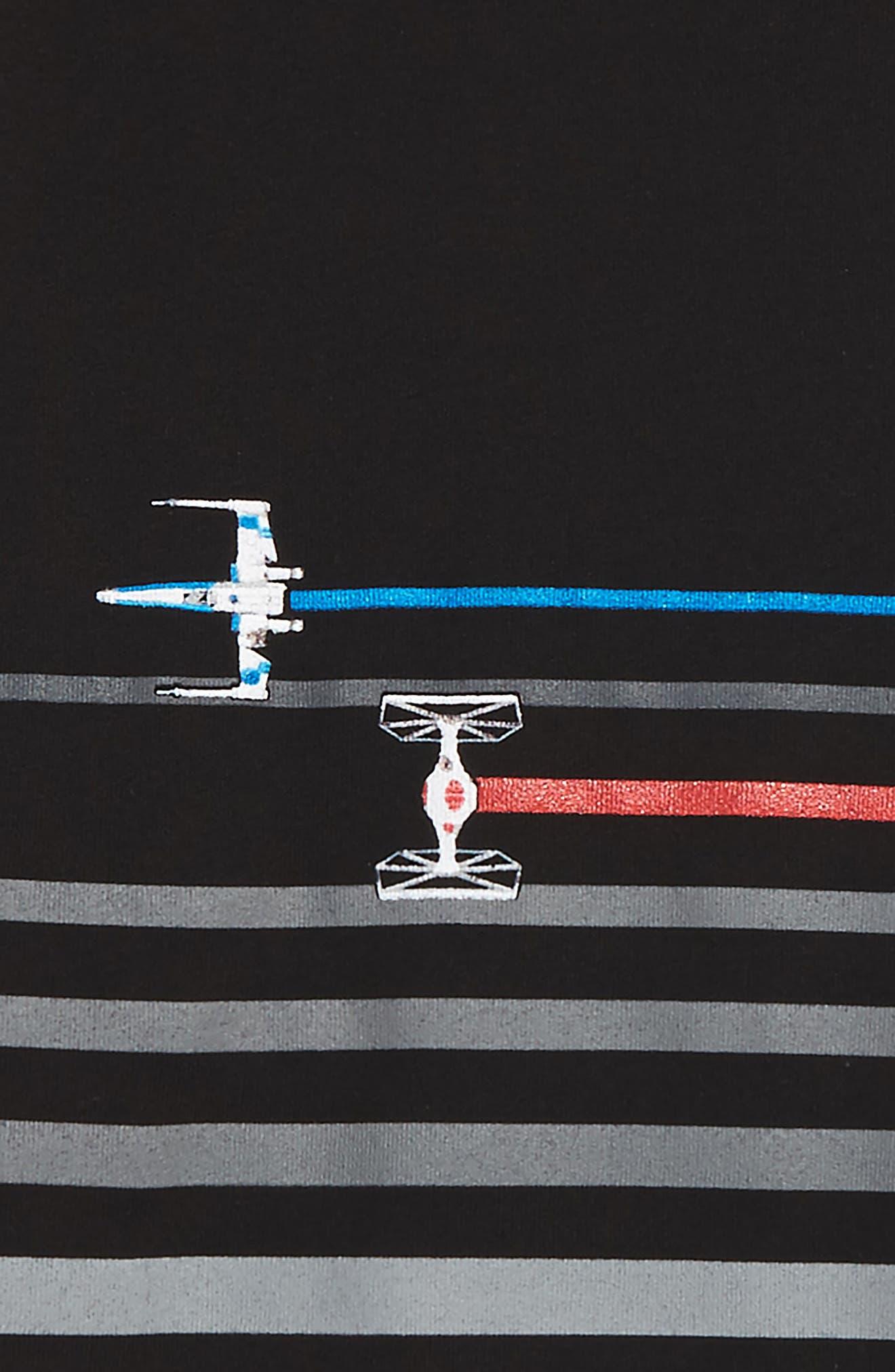 Star Wars - Ship Chase Stripe T-Shirt,                             Alternate thumbnail 2, color,                             001