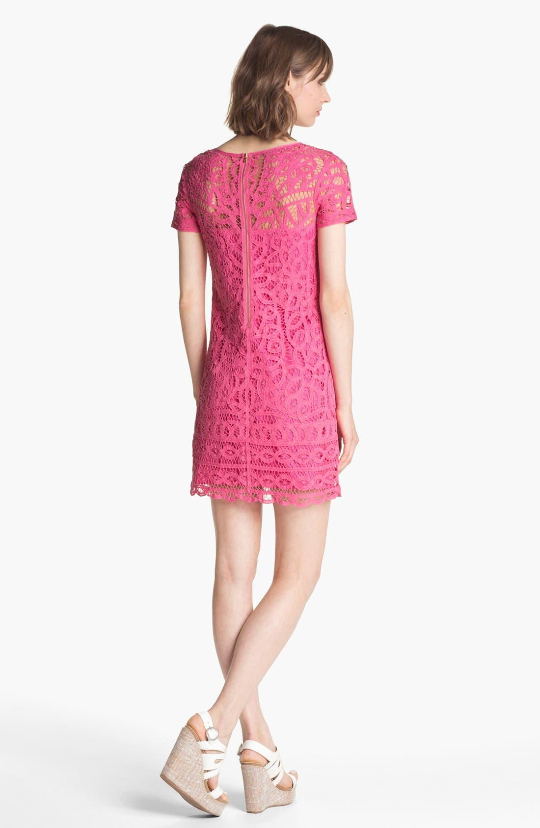 'Marie Kate' Lace Cotton Shift Dress,                             Alternate thumbnail 2, color,                             650