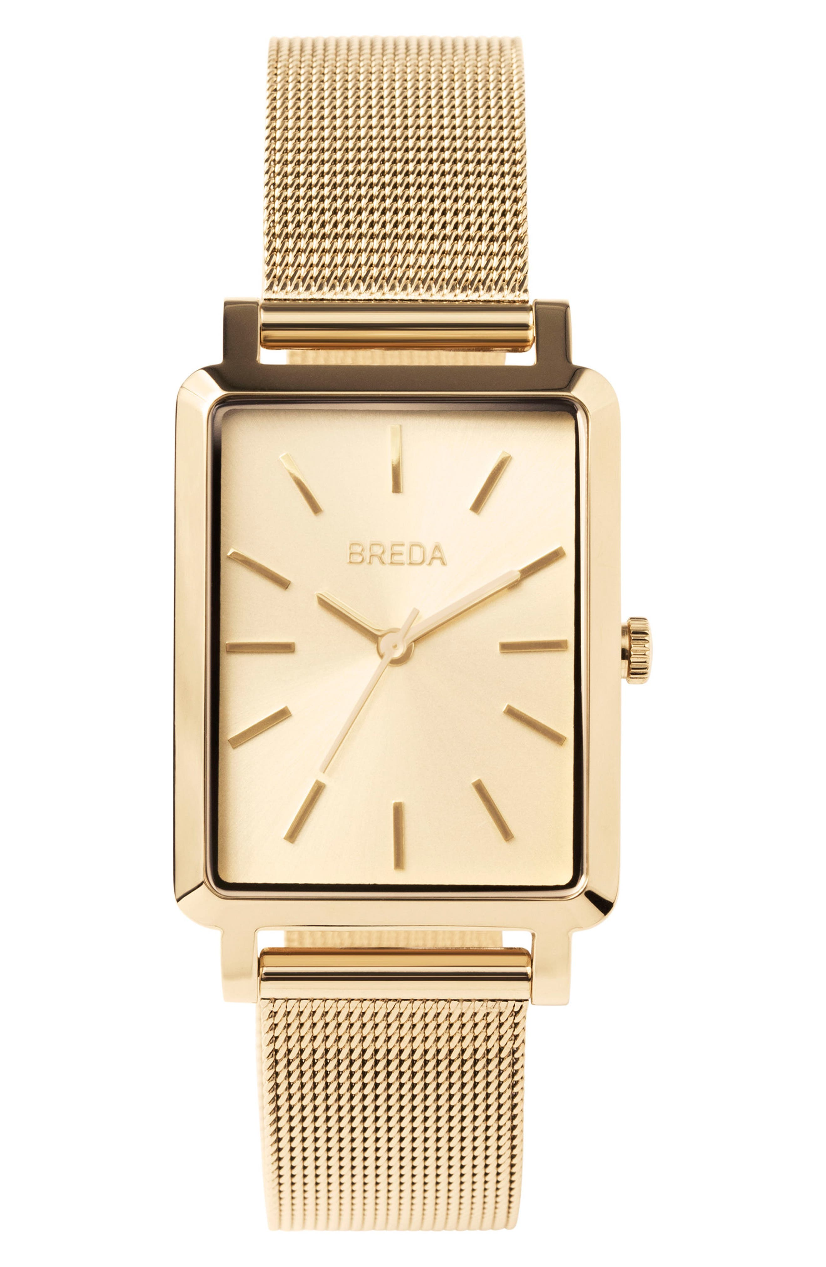 Baer Mesh Strap Watch, 26mm,                         Main,                         color, GOLD