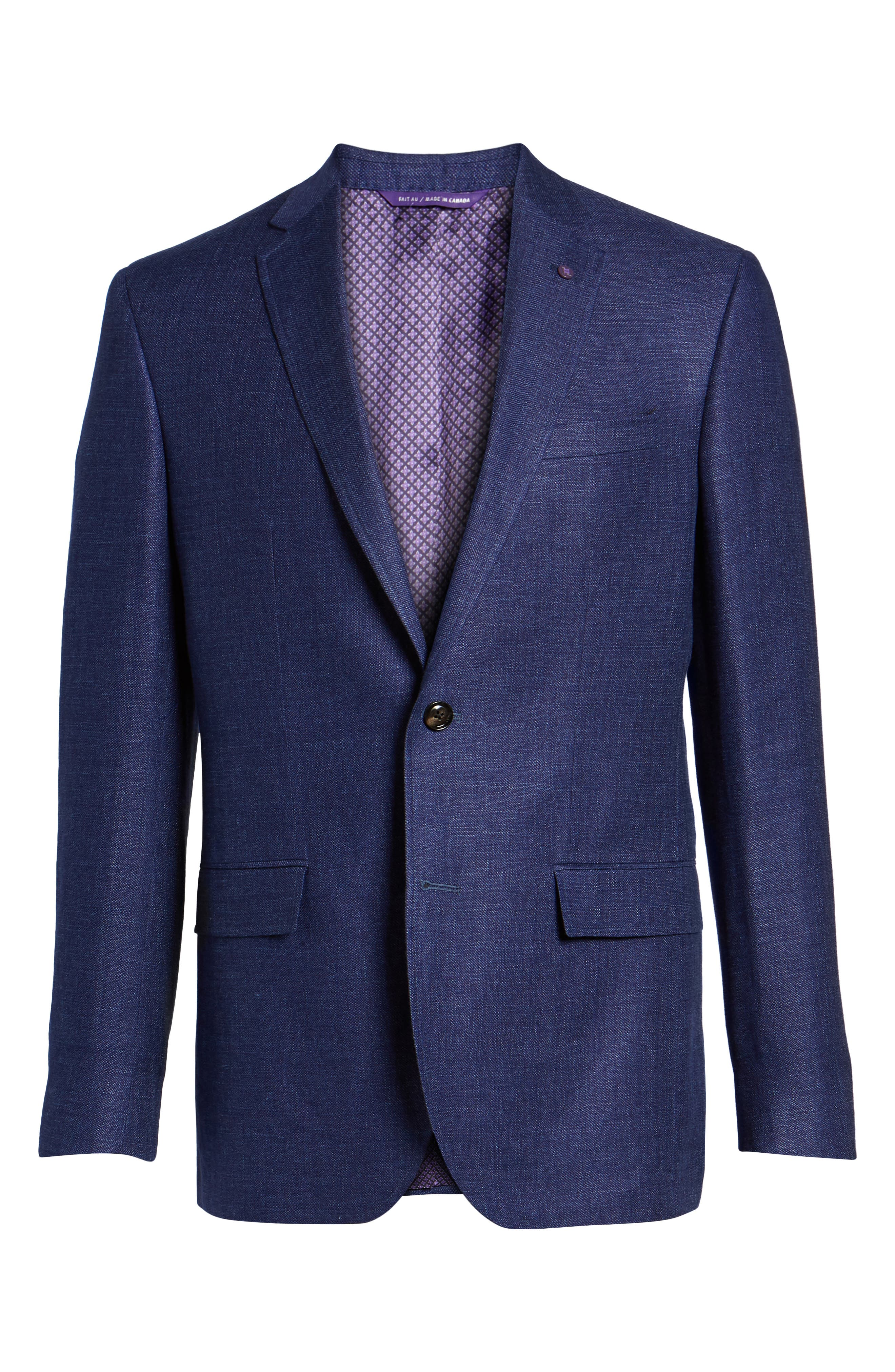 Jay Trim Fit Linen & Wool Blazer,                             Alternate thumbnail 5, color,