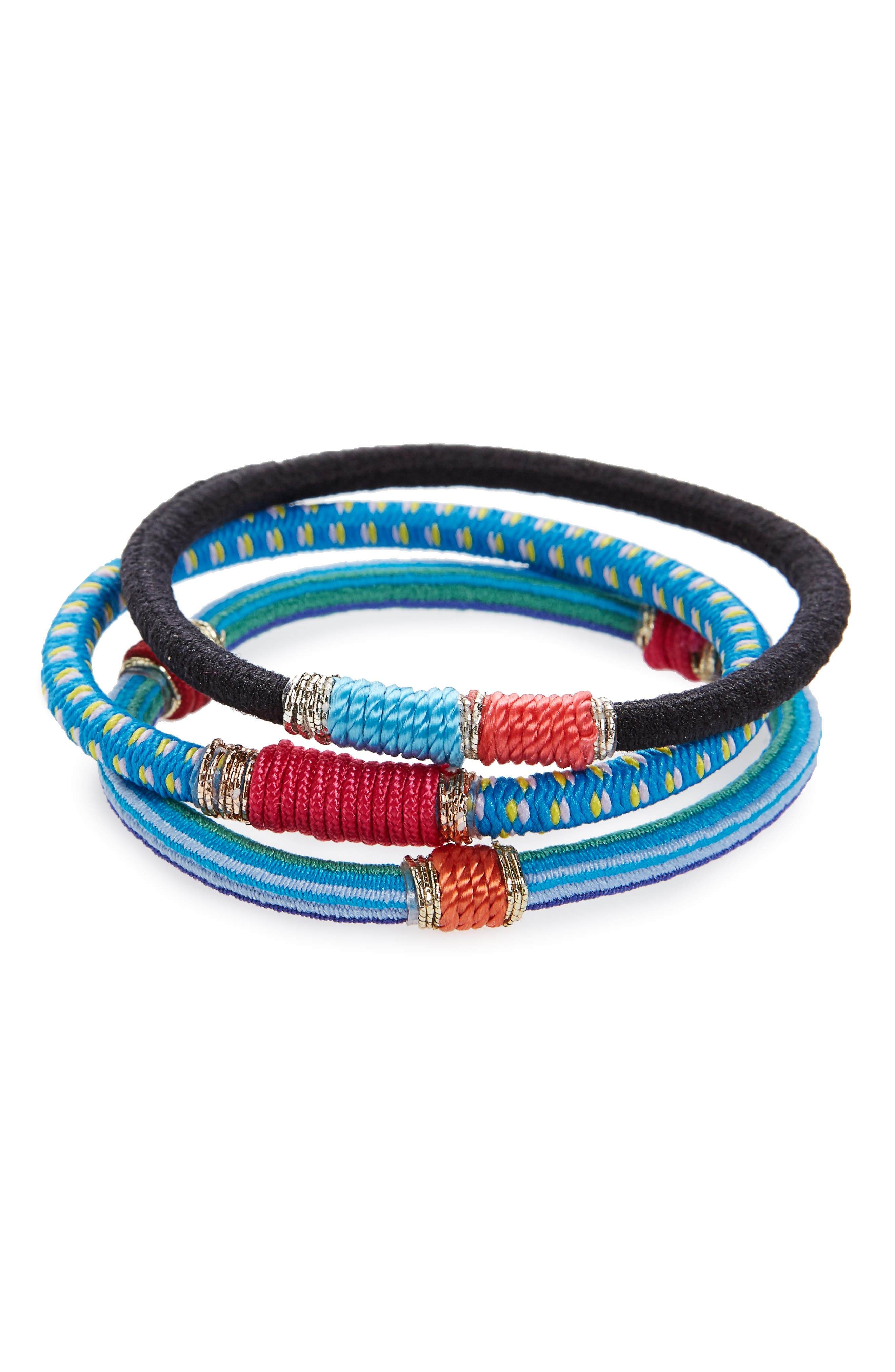 Moroccan Set of 3 Ponytail Holders,                             Main thumbnail 1, color,                             460