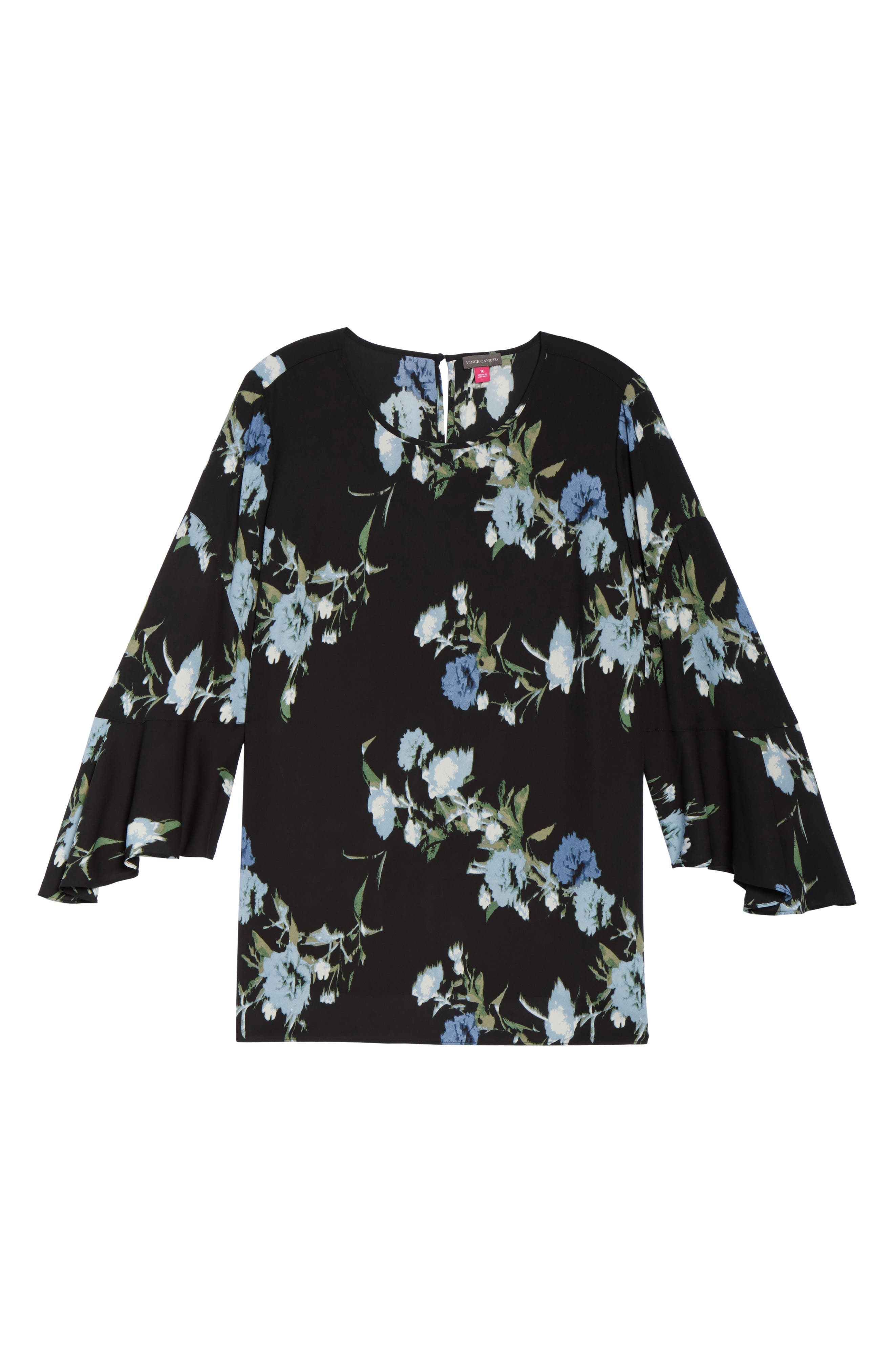 Windswept Bouquet Bell Sleeve Blouse,                             Alternate thumbnail 12, color,