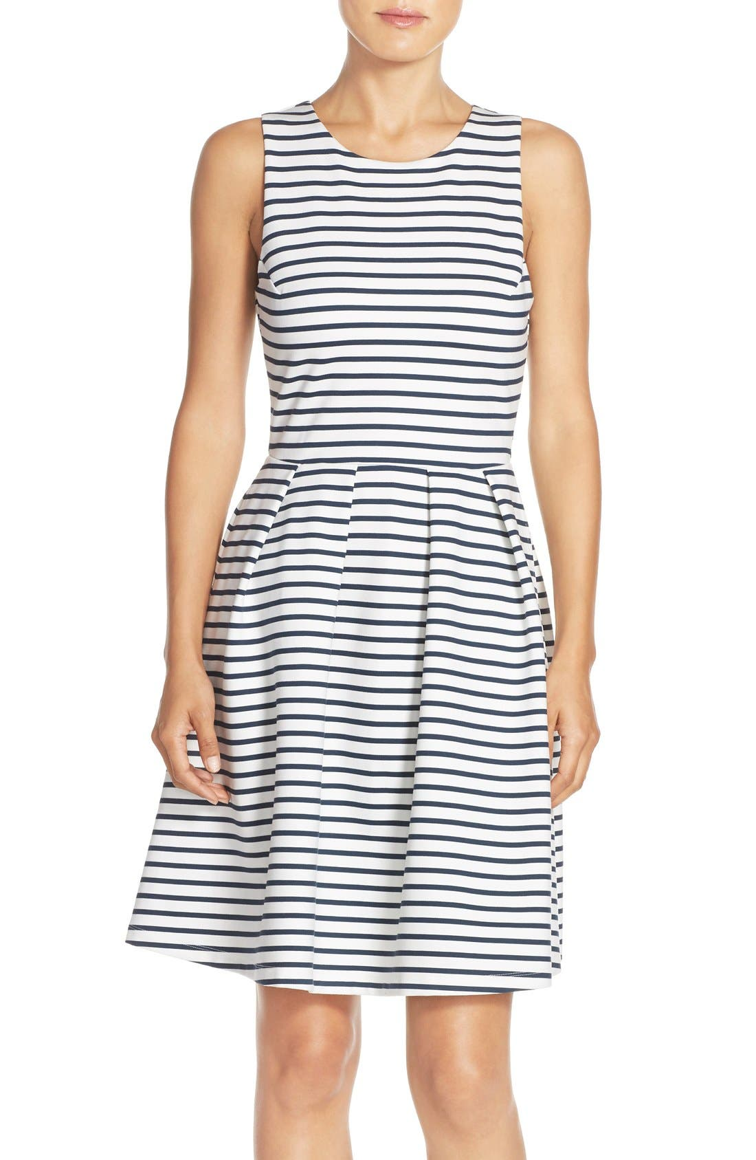 Ming Stripe Fit & Flare Dress,                             Alternate thumbnail 10, color,