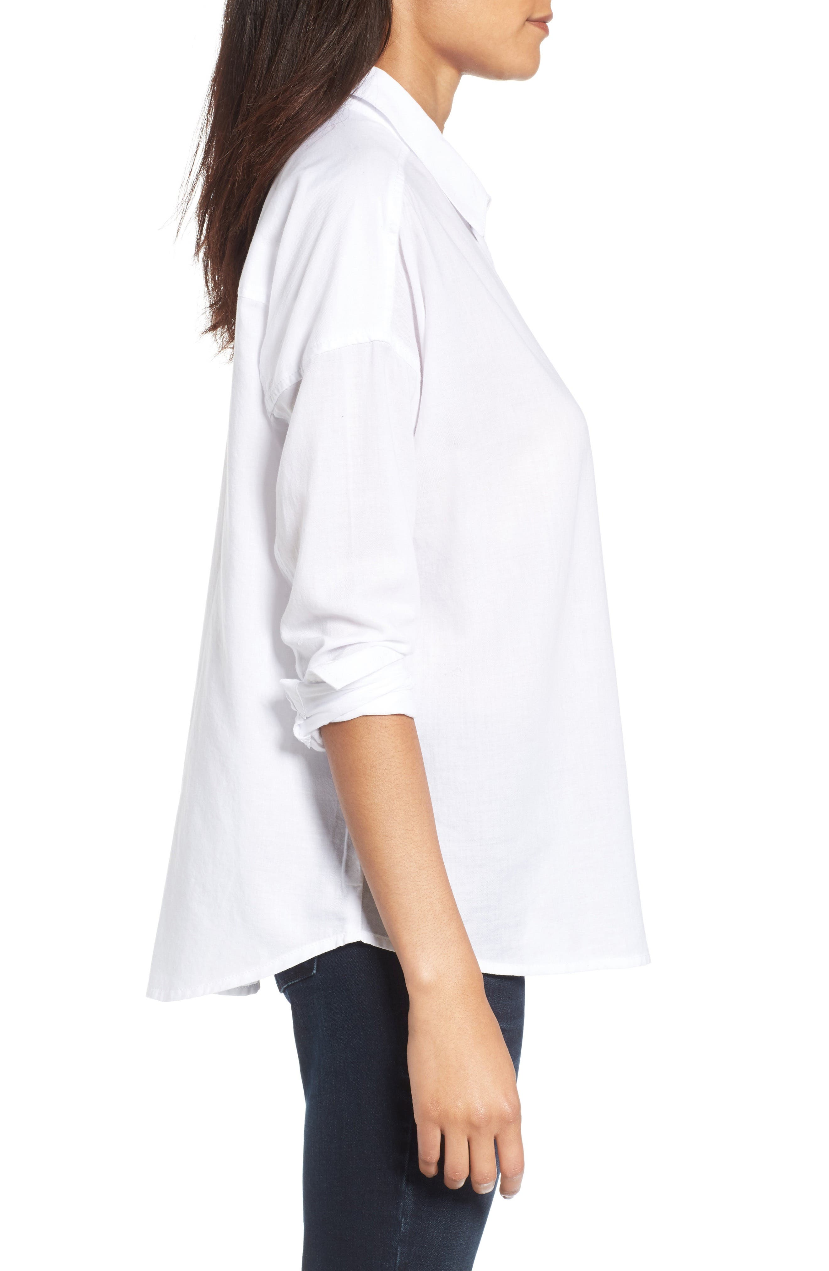 BP.,                             Cotton Shirt,                             Alternate thumbnail 3, color,                             100