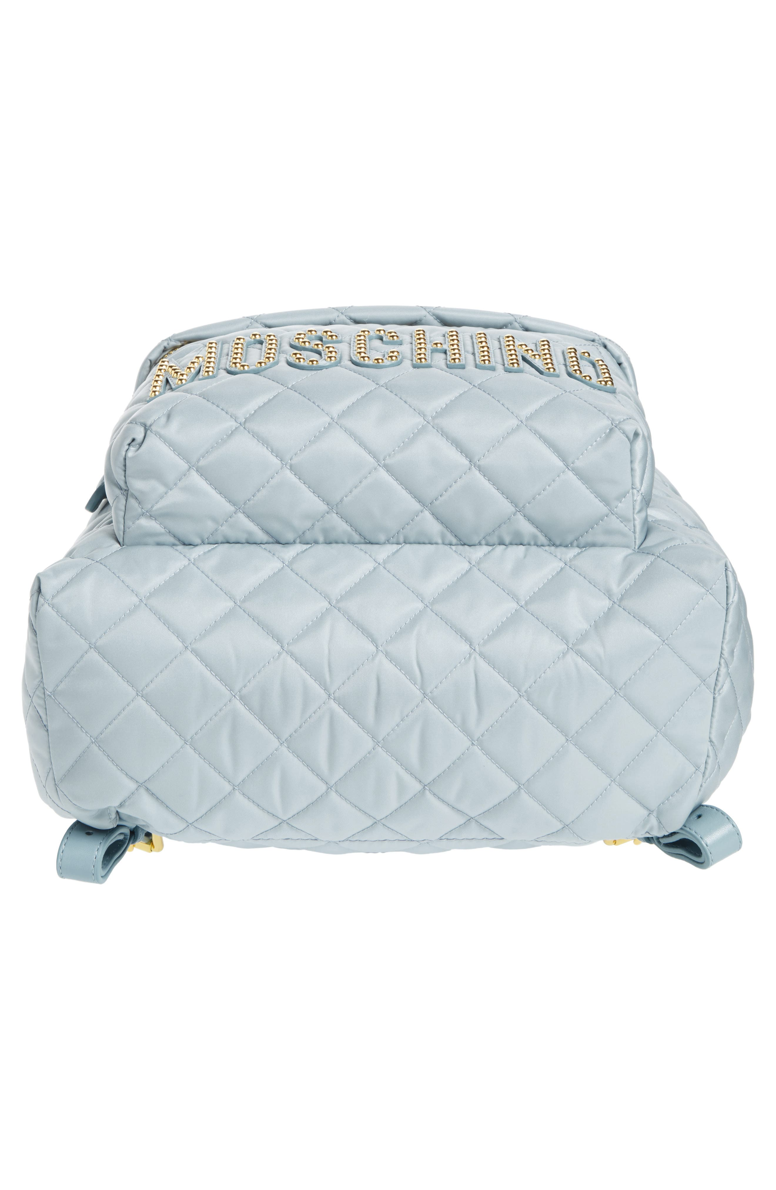 Studded Logo Quilted Nylon Backpack,                             Alternate thumbnail 6, color,                             400