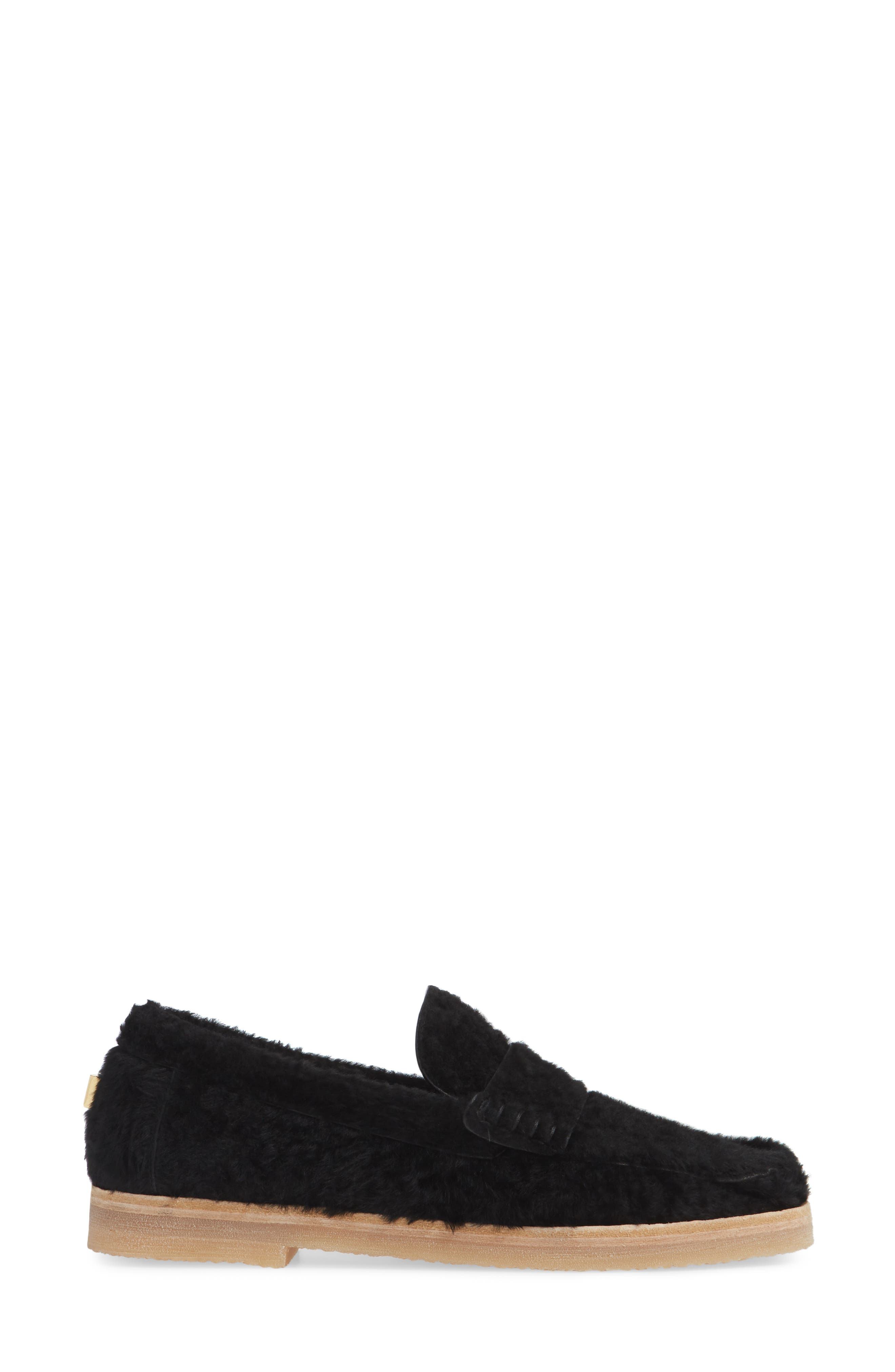 Bromley Genuine Shearling Loafer,                             Alternate thumbnail 8, color,
