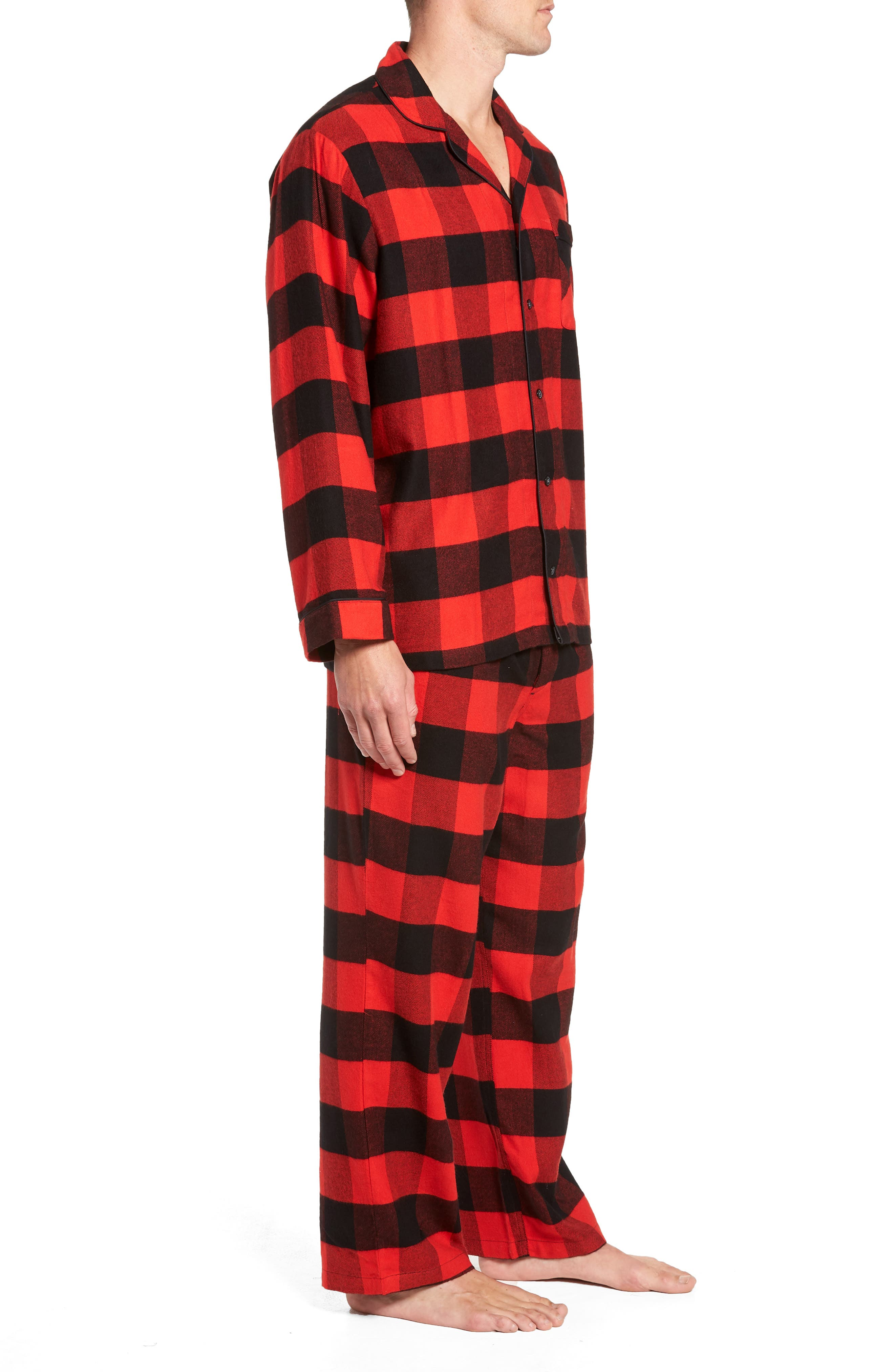 NORDSTROM MEN'S SHOP,                             Family Father Flannel Pajamas,                             Alternate thumbnail 3, color,                             610