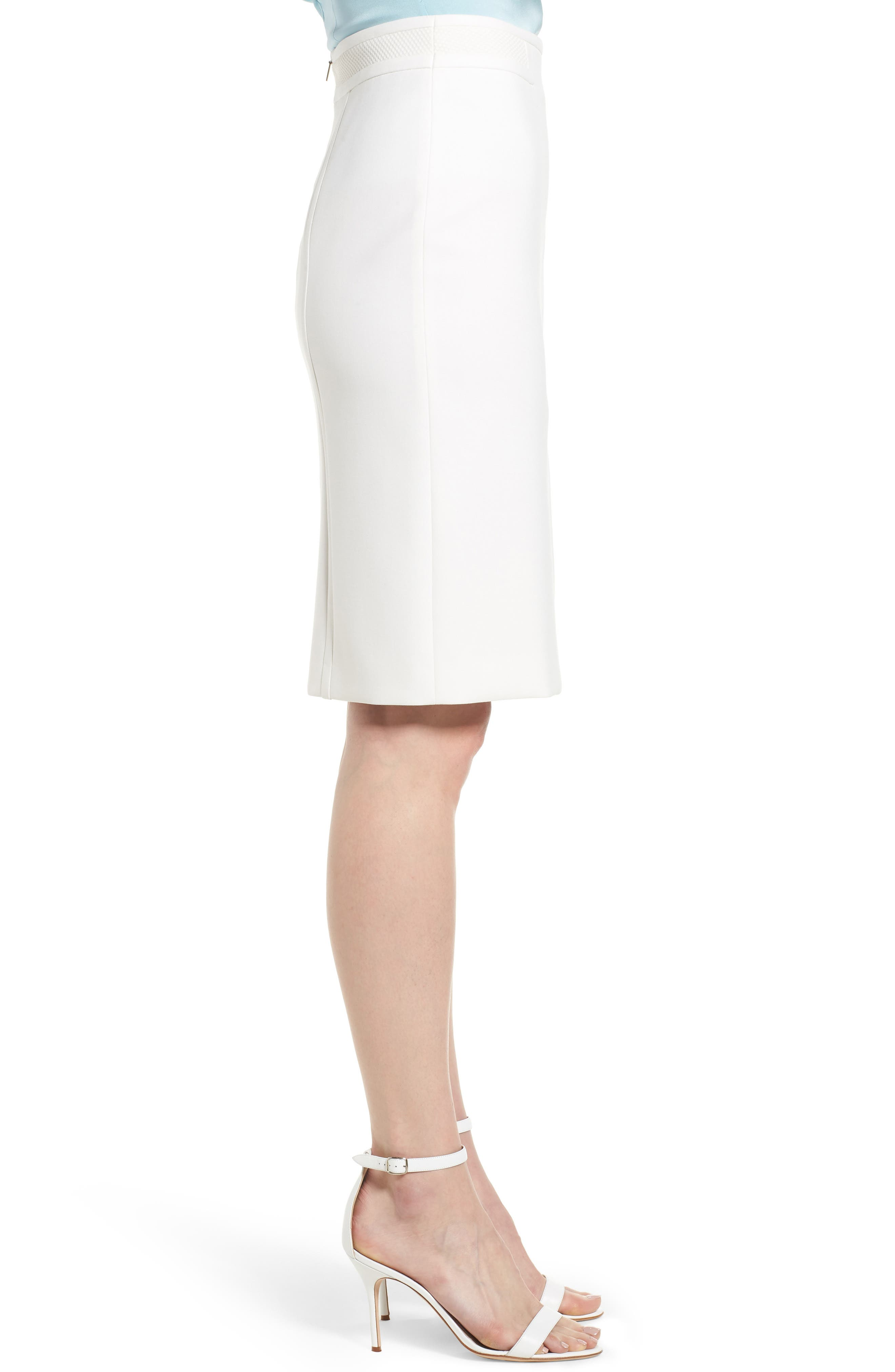 Vadama Ponte Pencil Skirt,                             Alternate thumbnail 3, color,                             112
