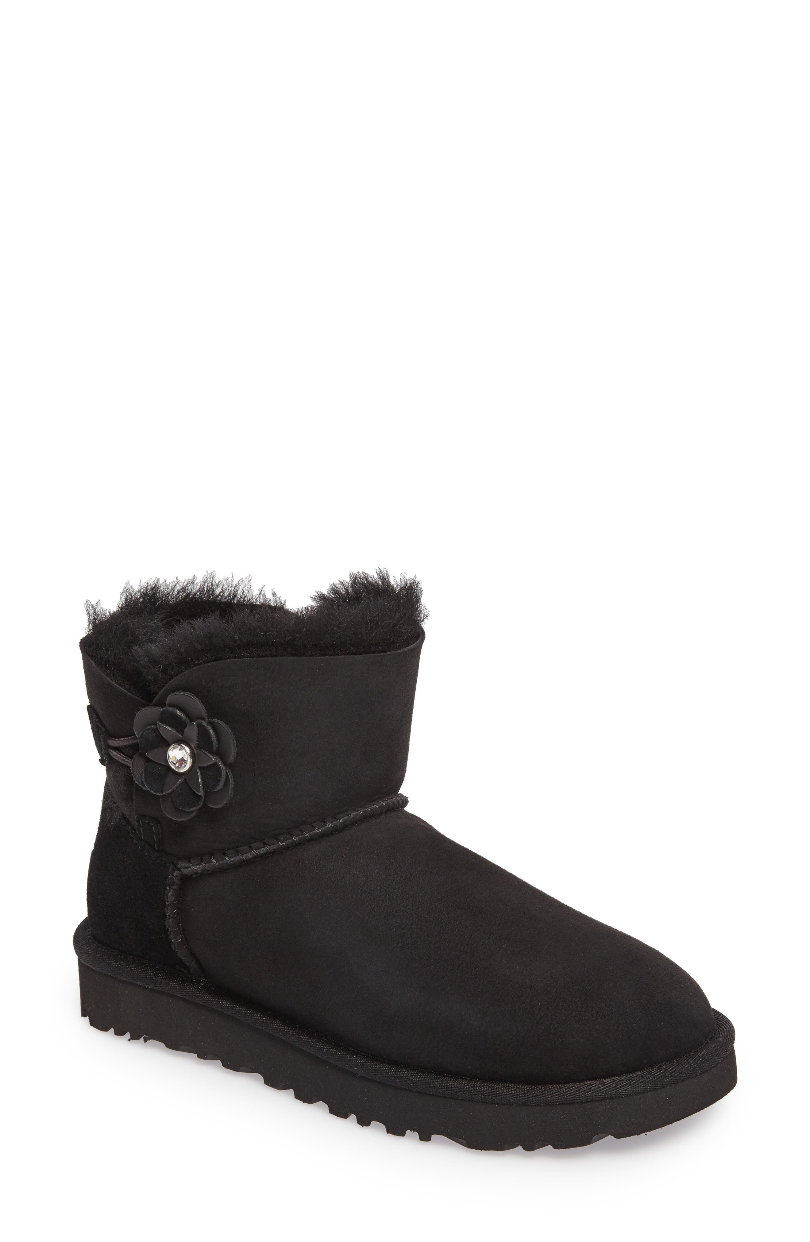 Bailey Petal Genuine Shearling Lined Mini Boot,                         Main,                         color,